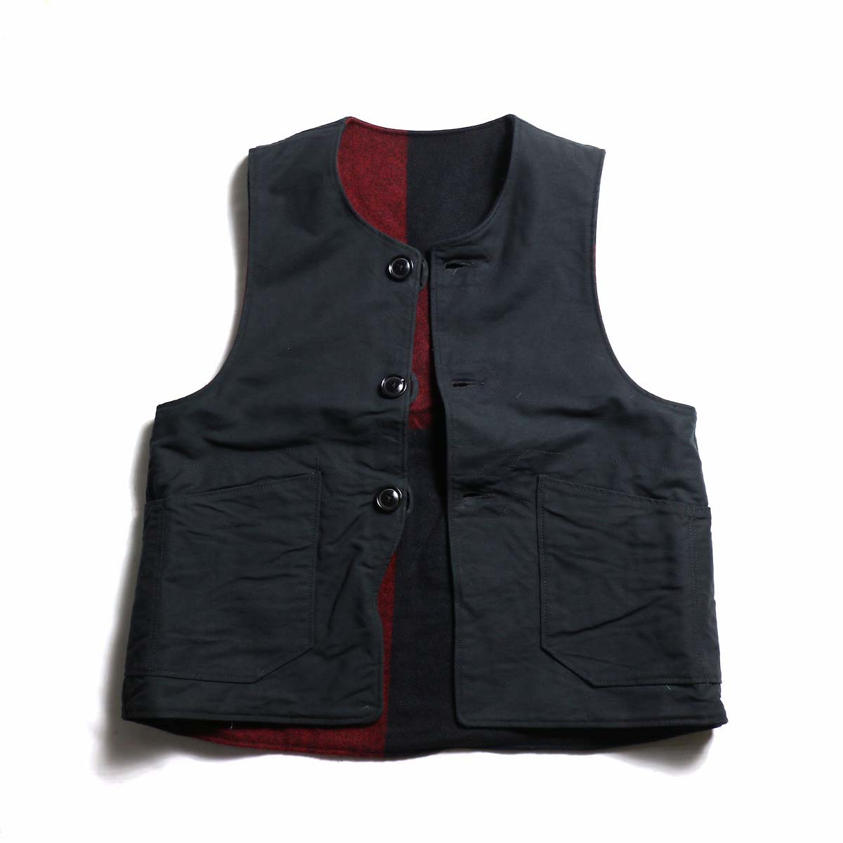 Engineered Garments / Over Vest - Plaid / Cotton Double Cloth
