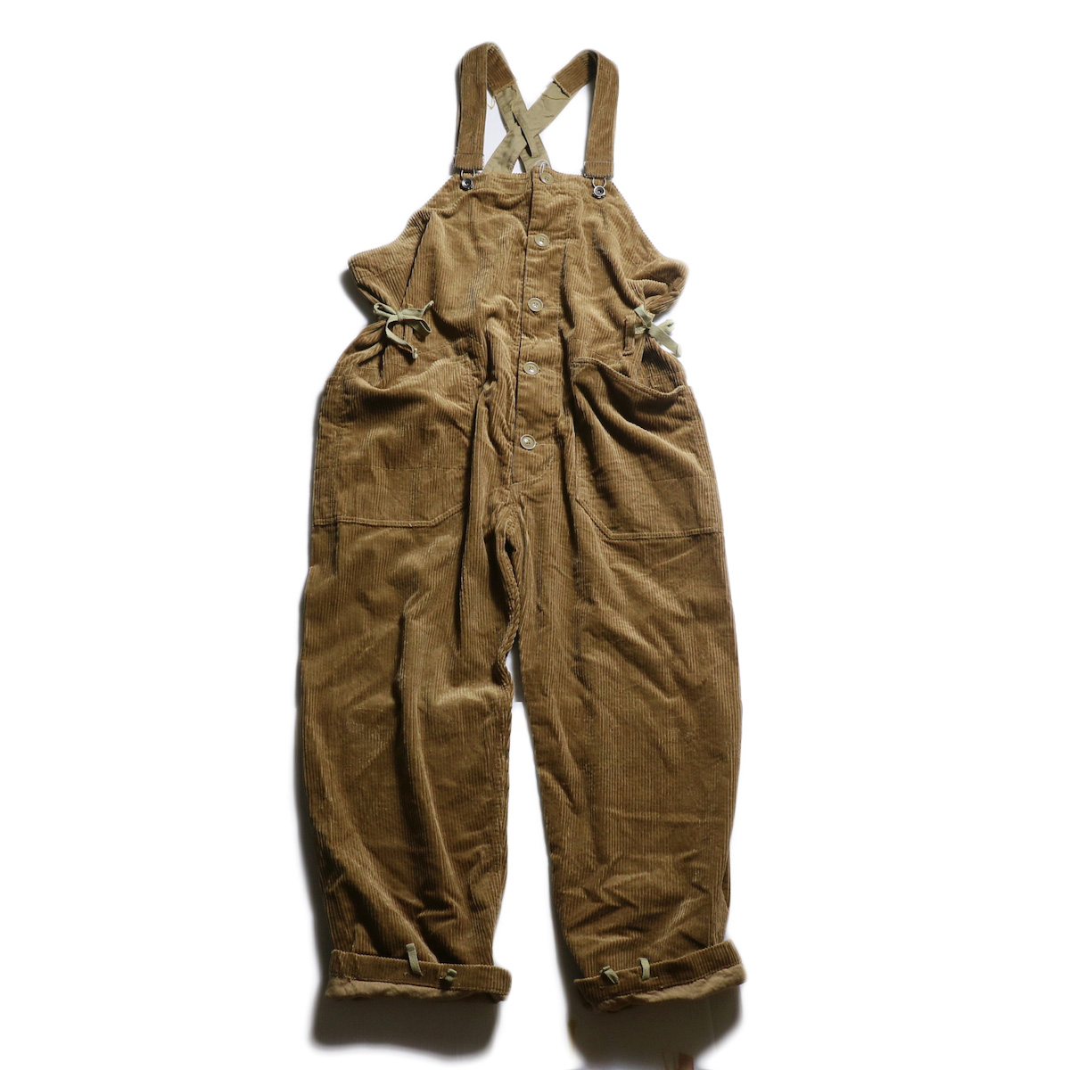 ENGINEERED GARMENTS / Overalls -6W Corduroy (Khaki)