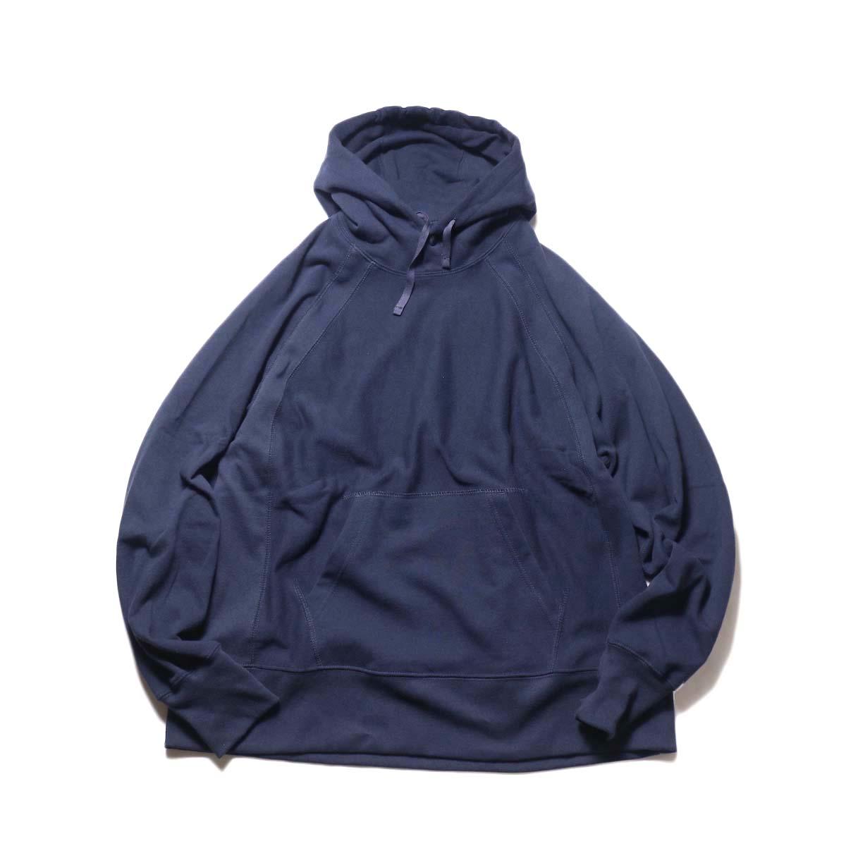 Engineered Garments / Raglan Hoody-Fleece (Dk.Navy)