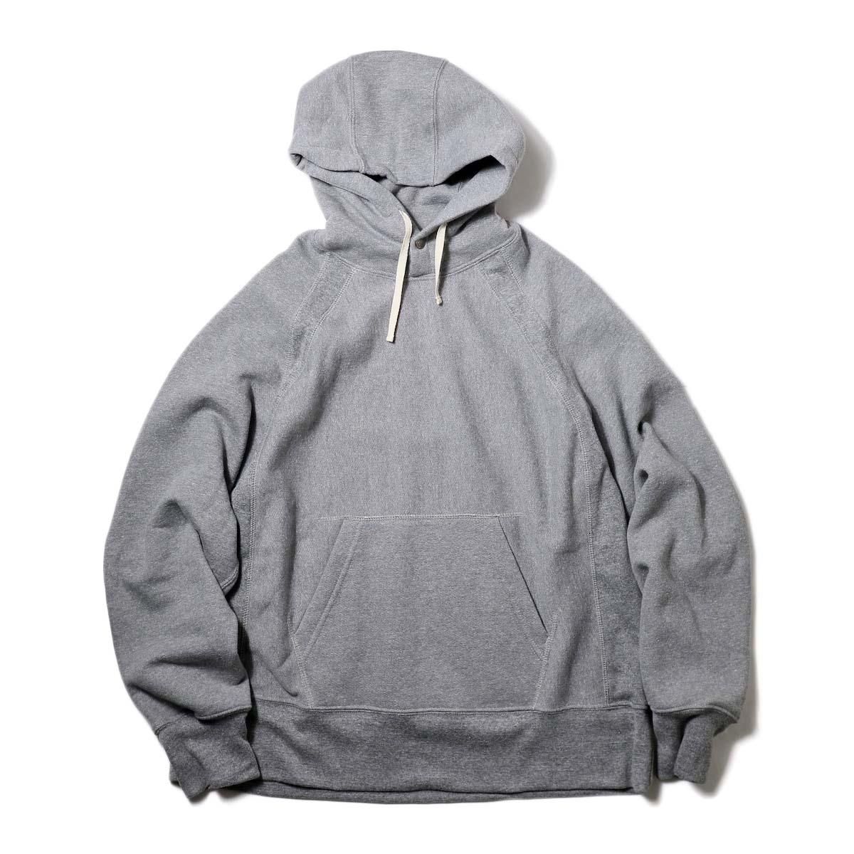 Engineered Garments / Raglan Hoody-Fleece (H.Grey)