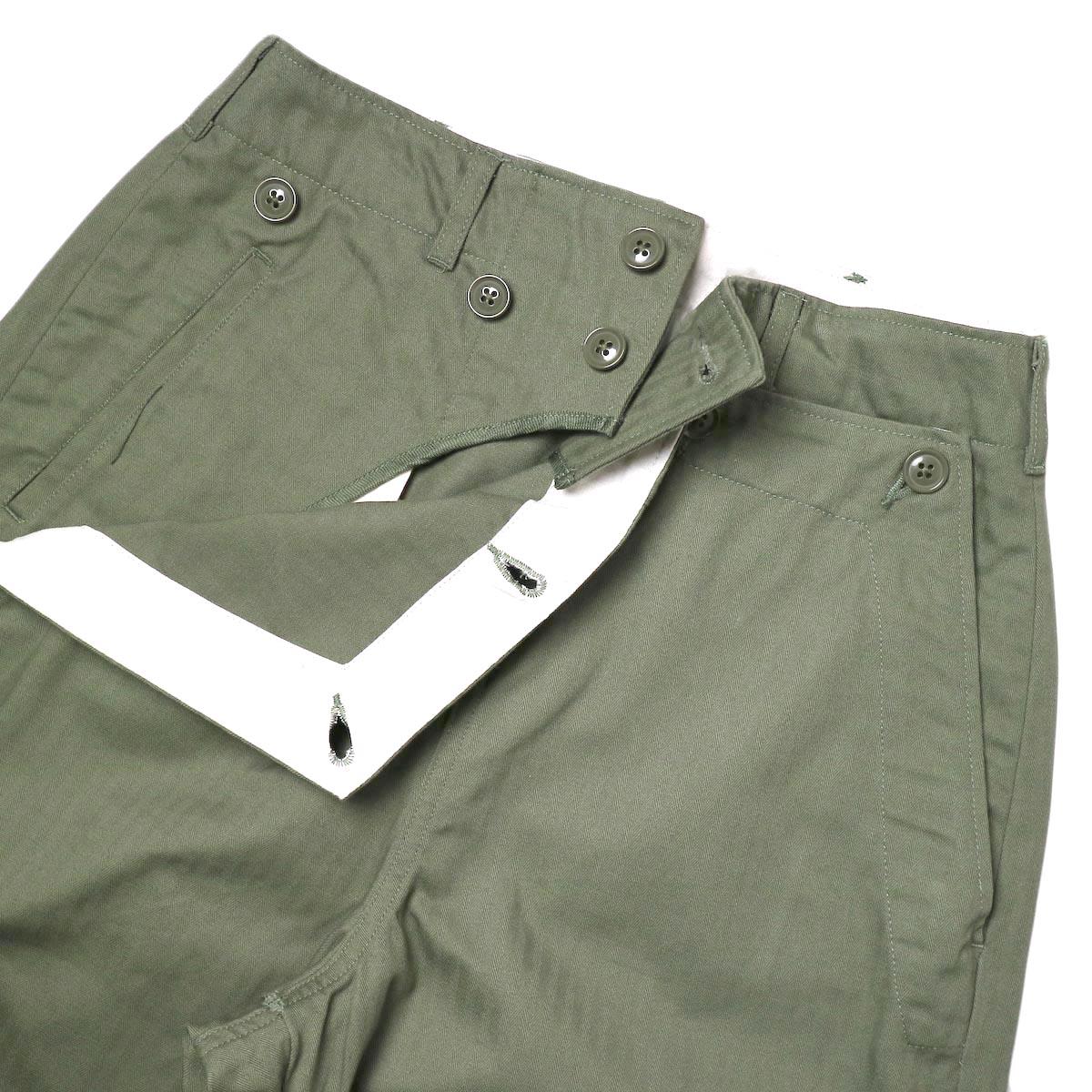 ENGINEERED GARMENTS / Sailor Pant (olive) 正面アップ