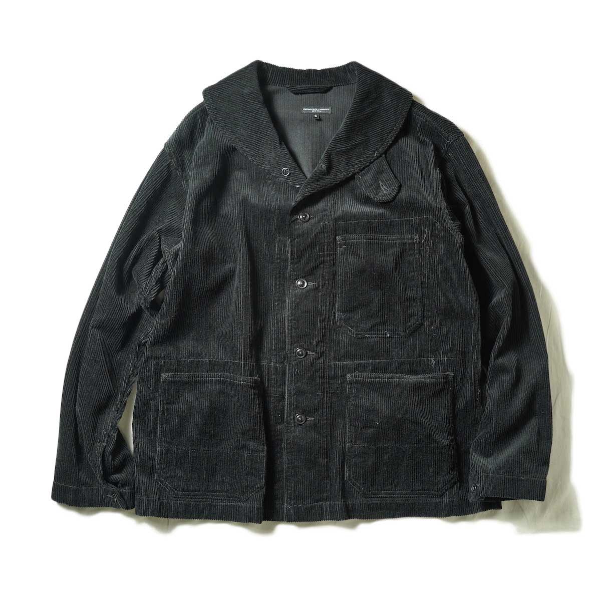 Engineered Garments / SHAWL COLLAR JACKET - COTTON 8W CORDUROY (Black)