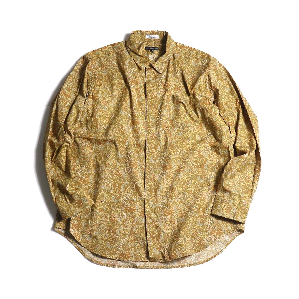 Engineered Garments / Short Collar Shirt -Paisley Print (Tan/Olive)