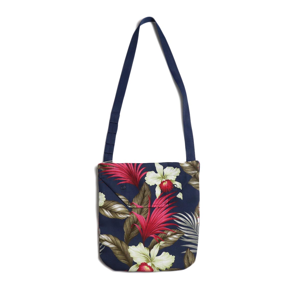 Engineered Garments / Shoulder Pouch -Hawaiian Floral Java Cloth (Navy)
