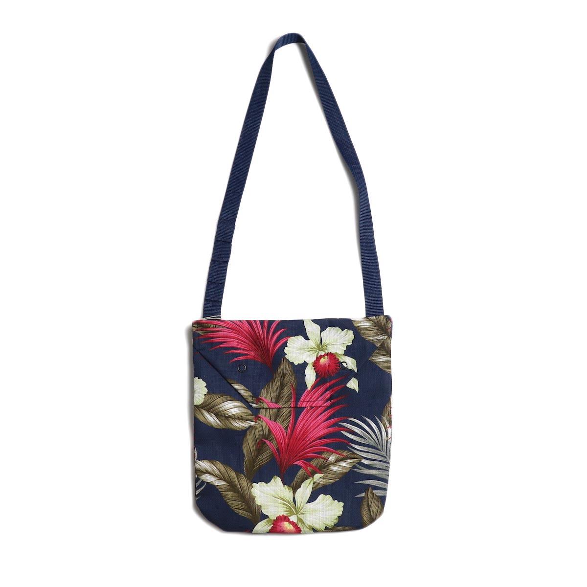 Engineered Garments / Shoulder Pouch -Hawaiian Floral Java Cloth (Navy)
