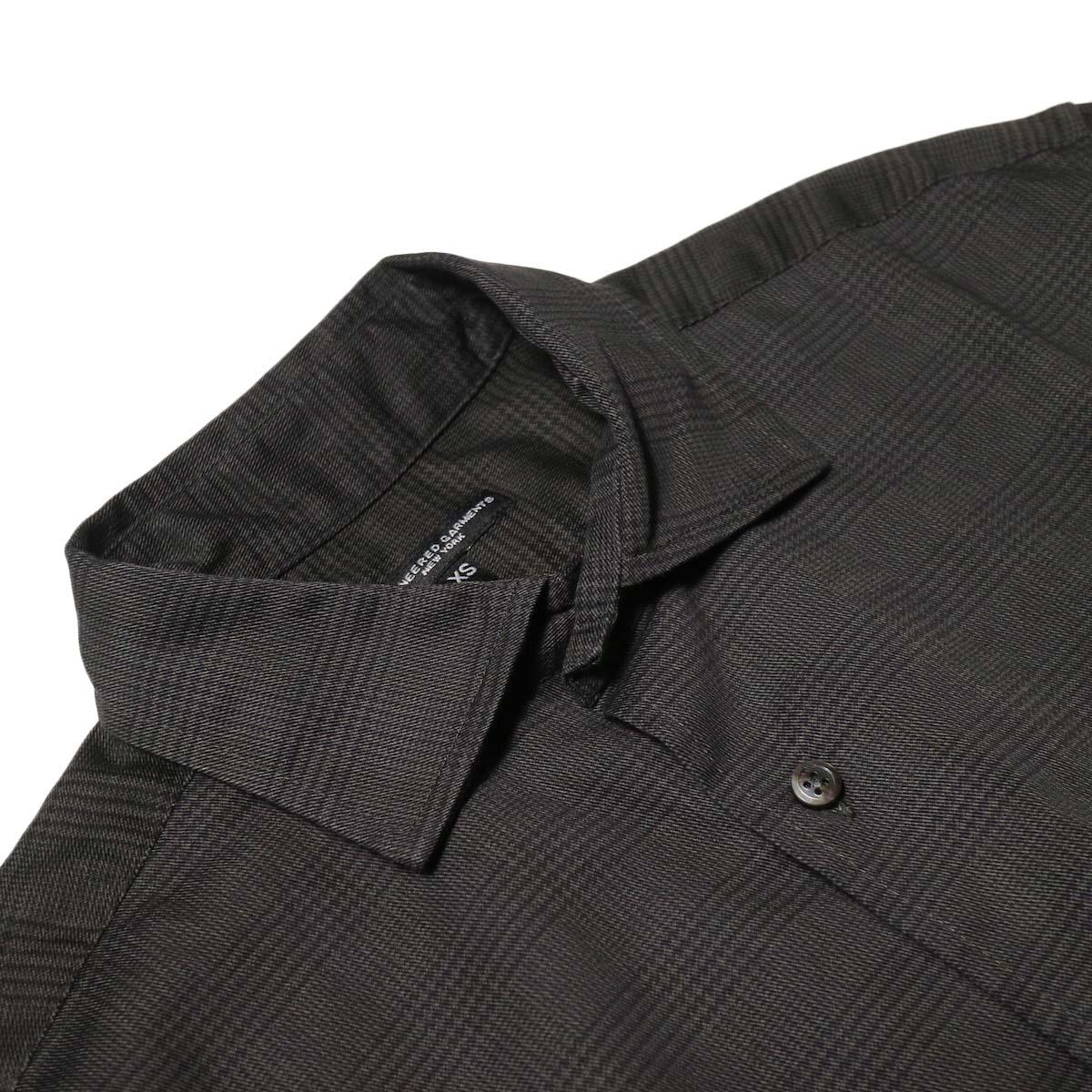 Engineered Garments / Spread Collar Shirt -Glen Plaid (Grey)ヘンリーネック
