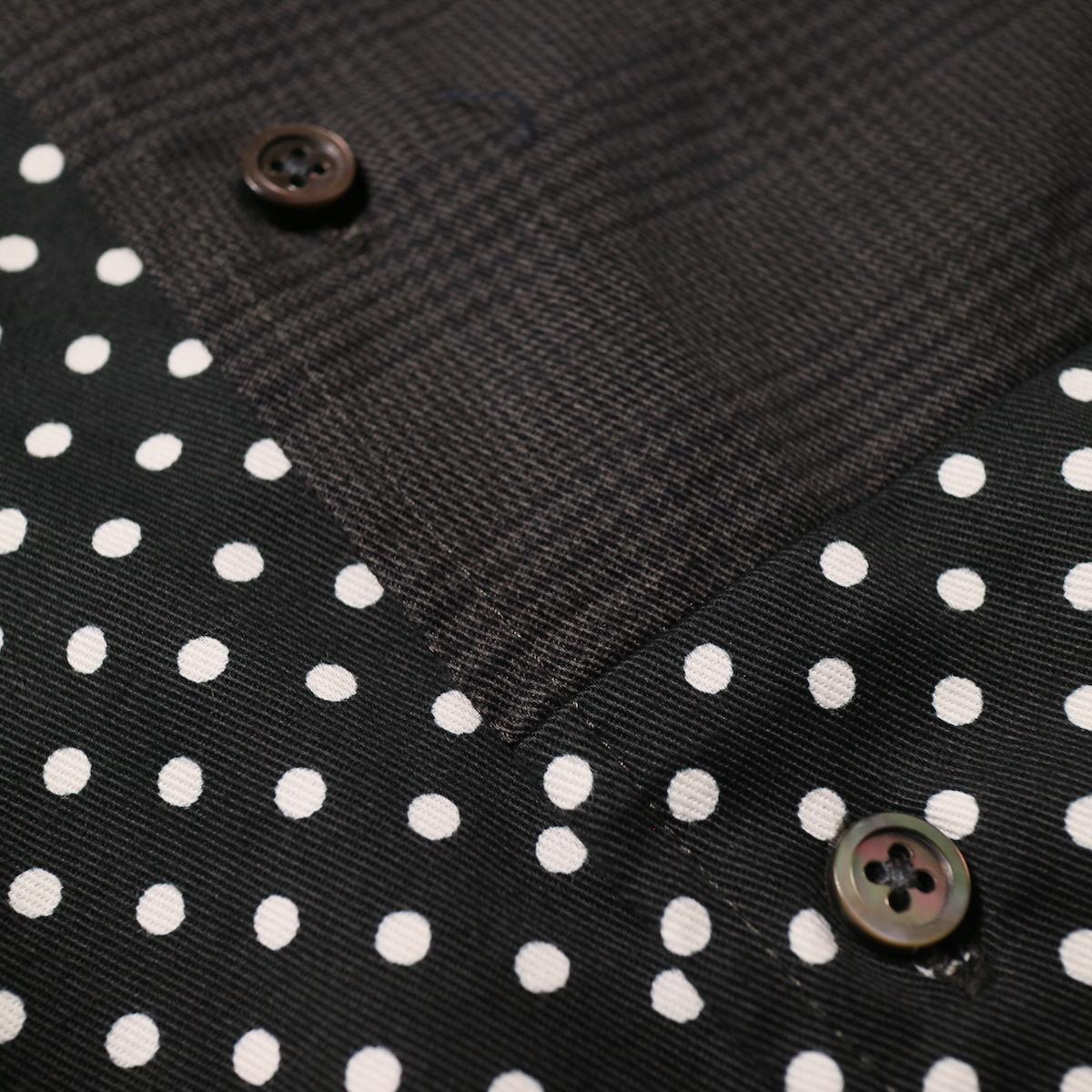 Engineered Garments / Spread Collar Shirt -Glen Plaid (Grey)切替部分