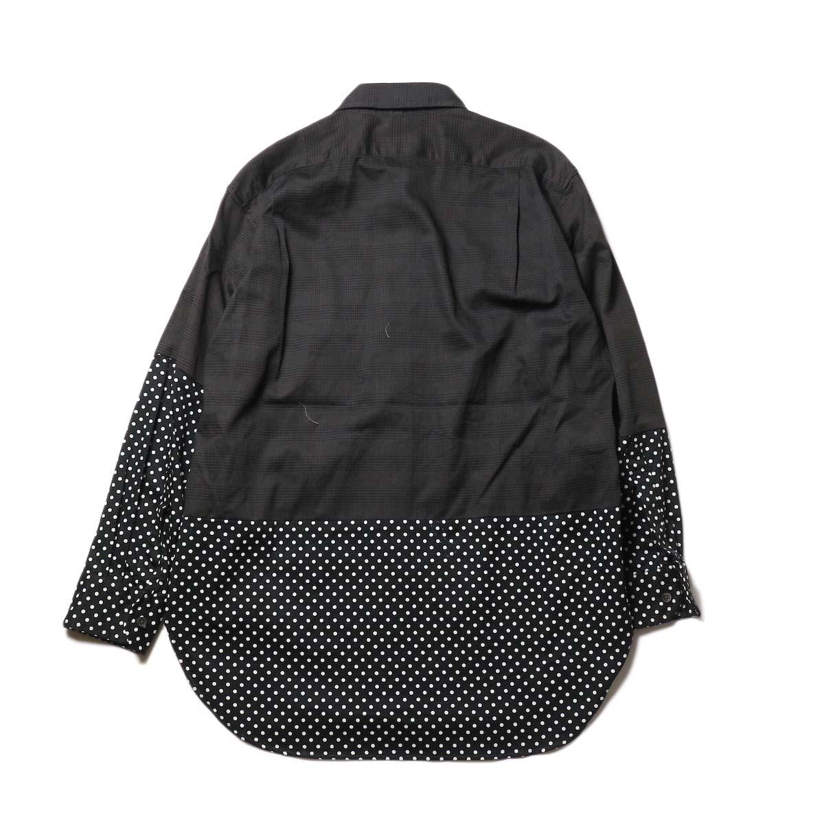 Engineered Garments / Spread Collar Shirt -Glen Plaid (Grey)背面