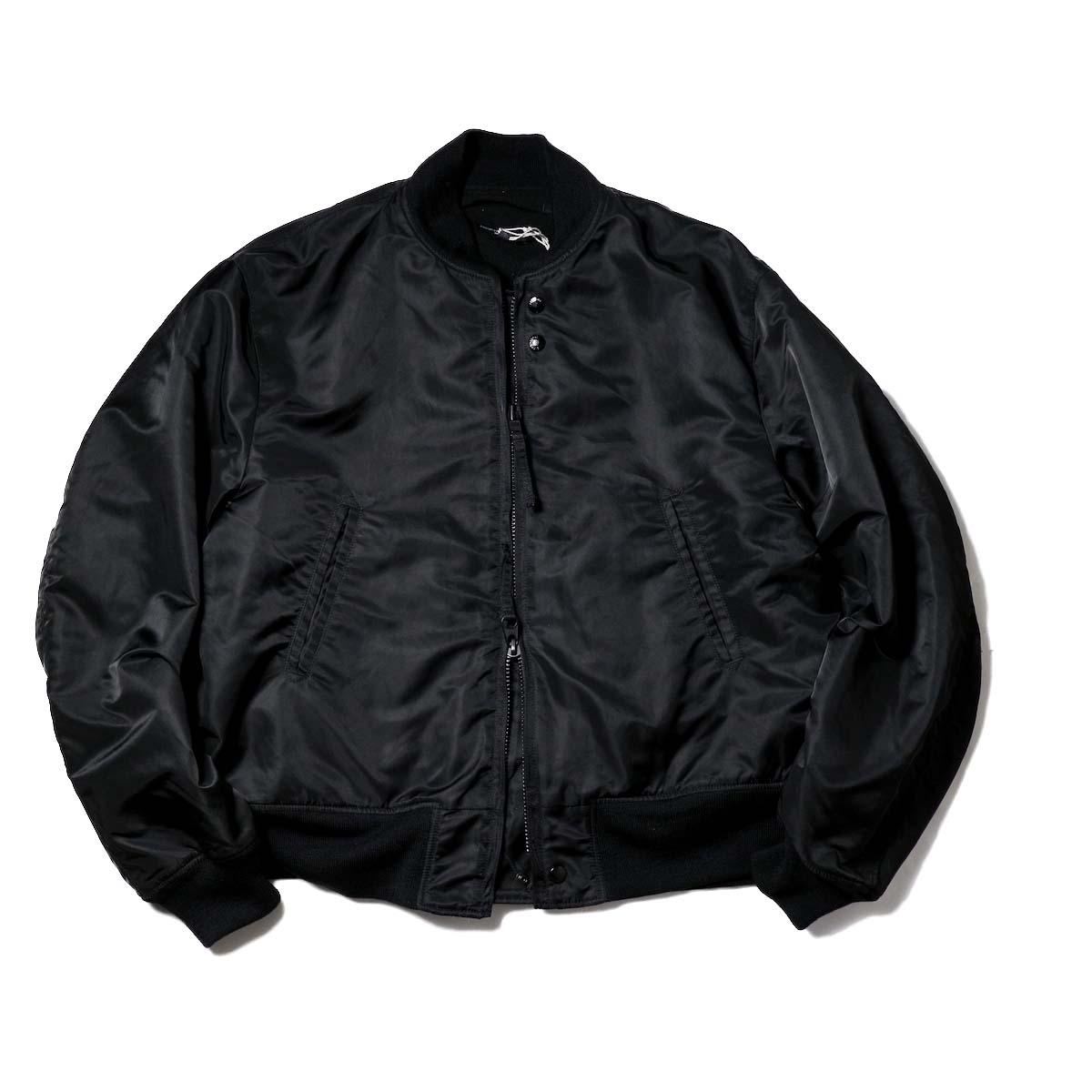 Engineered Garments / SVR Jacket - Flight Satin (Black)