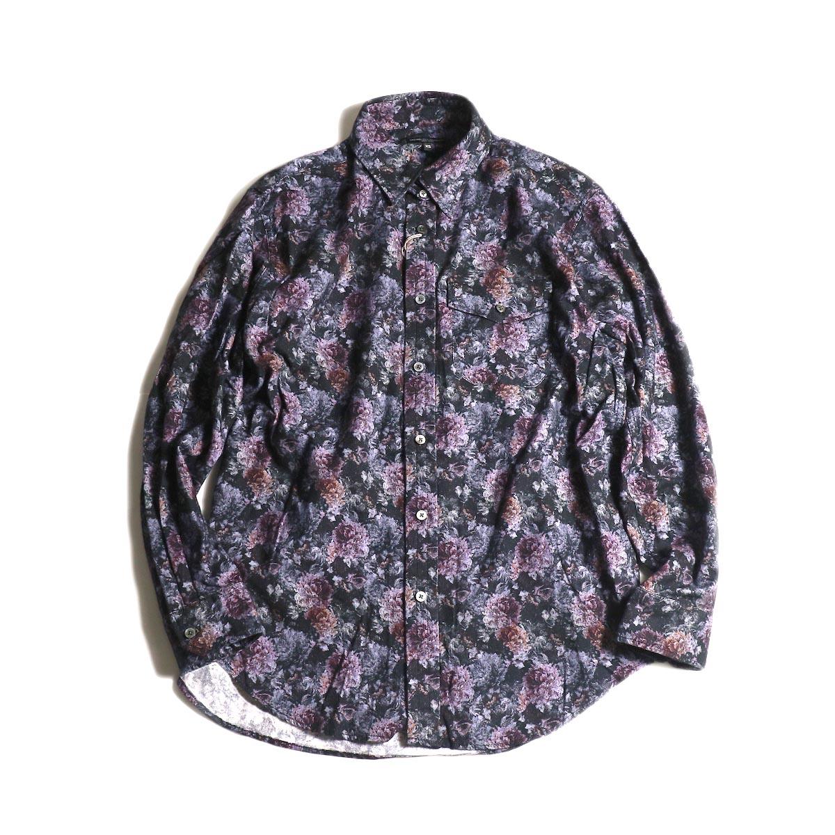 Engineered Garments / Tab Collar Shirt  -Floral Print (Purple)正面