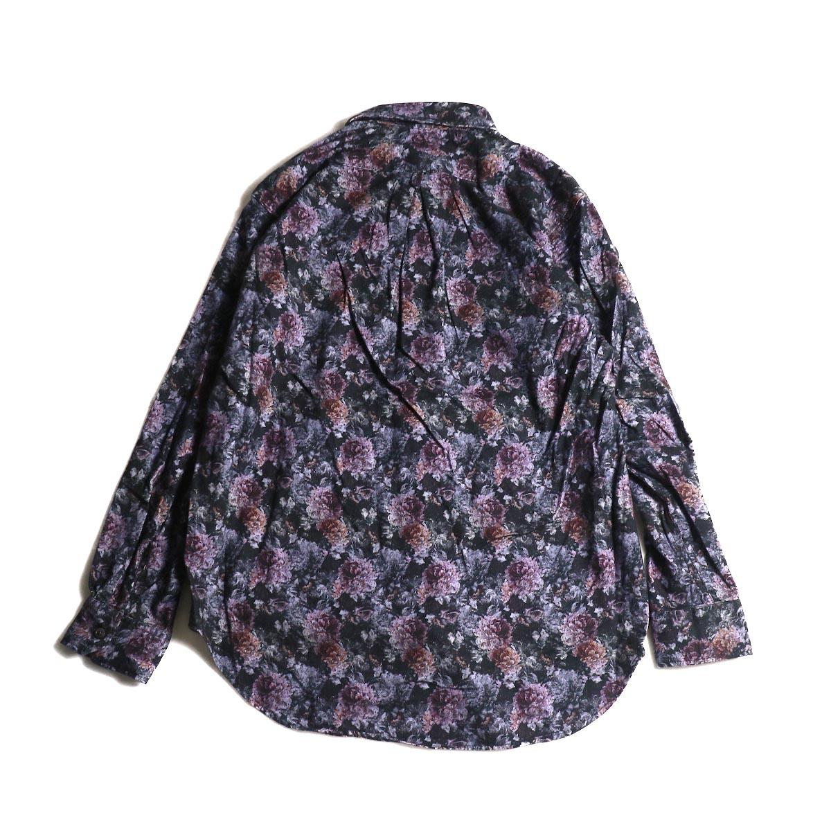 Engineered Garments / Tab Collar Shirt  -Floral Print (Purple)背面
