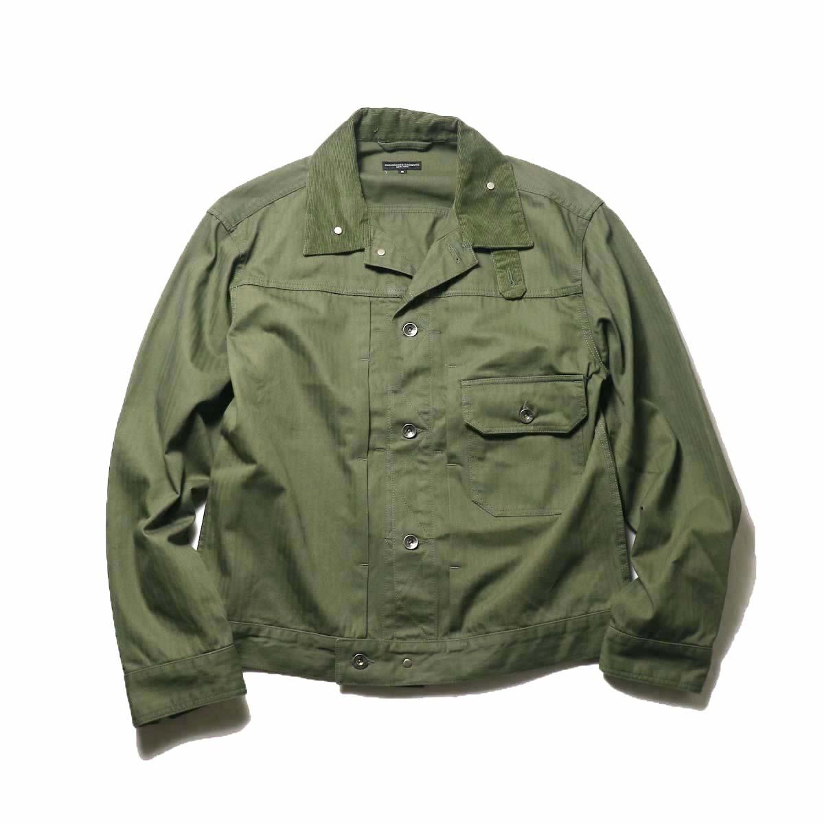 Engineered Garments / Trucker Jacket -Hb Twill (Olive)正面