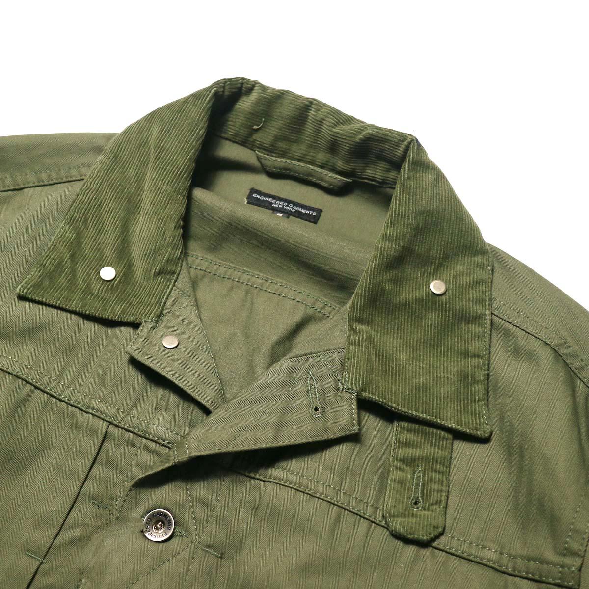 Engineered Garments / Trucker Jacket -Hb Twill (Olive)襟