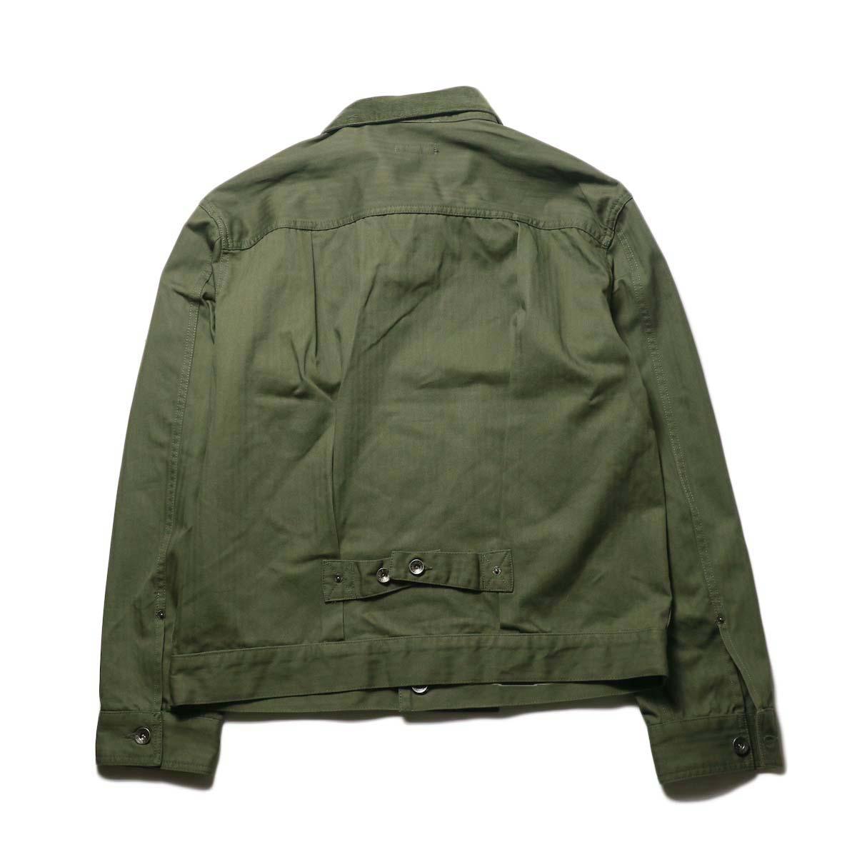 Engineered Garments / Trucker Jacket -Hb Twill (Olive)背面