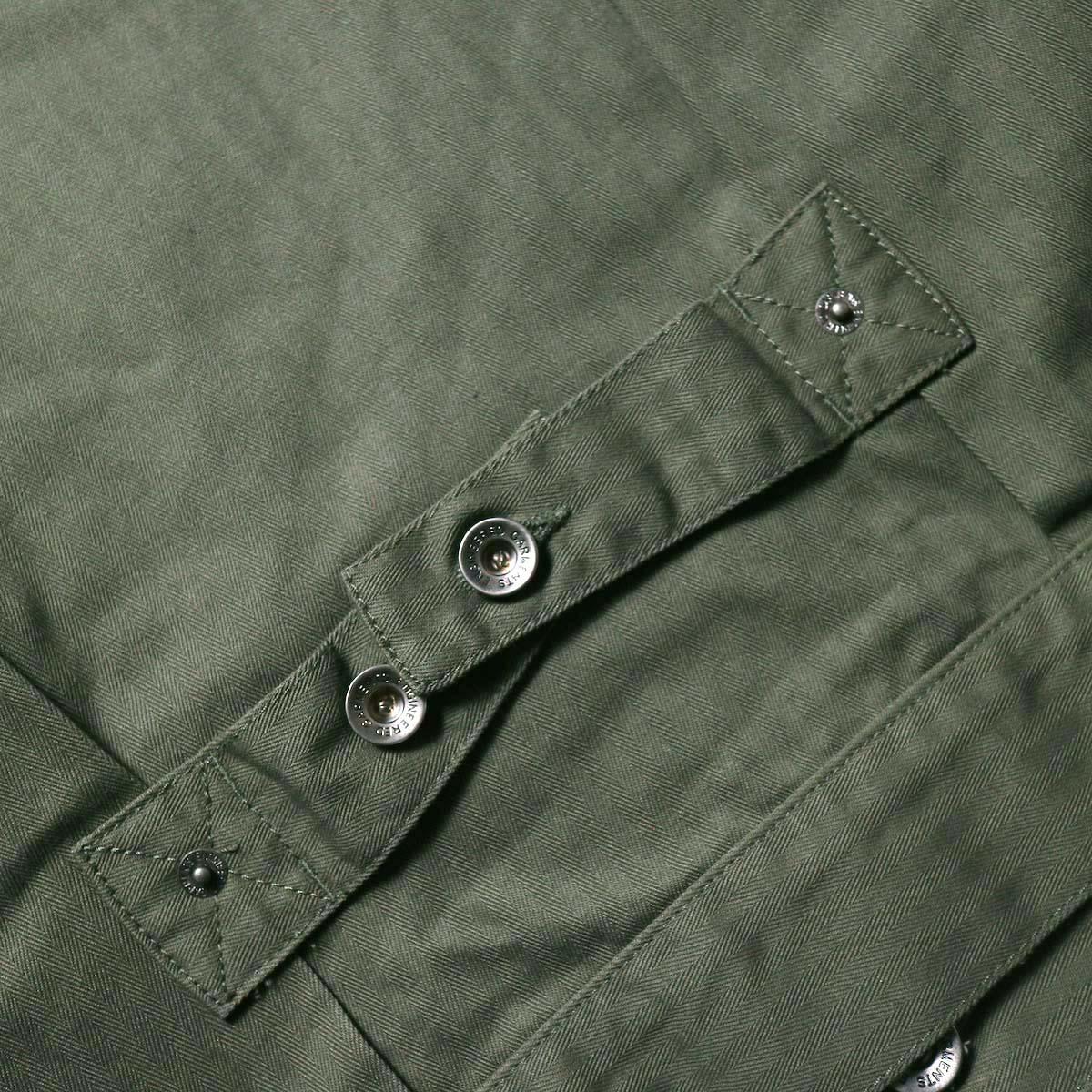 Engineered Garments / Trucker Jacket -Hb Twill (Olive)シンチバック