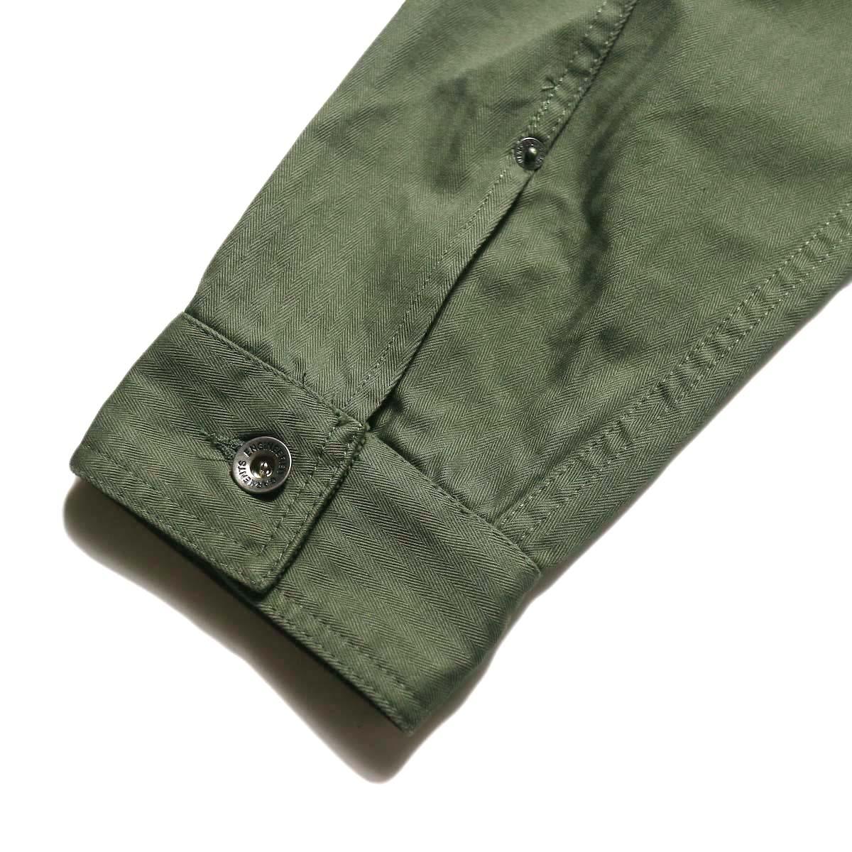 Engineered Garments / Trucker Jacket -Hb Twill (Olive)カフス