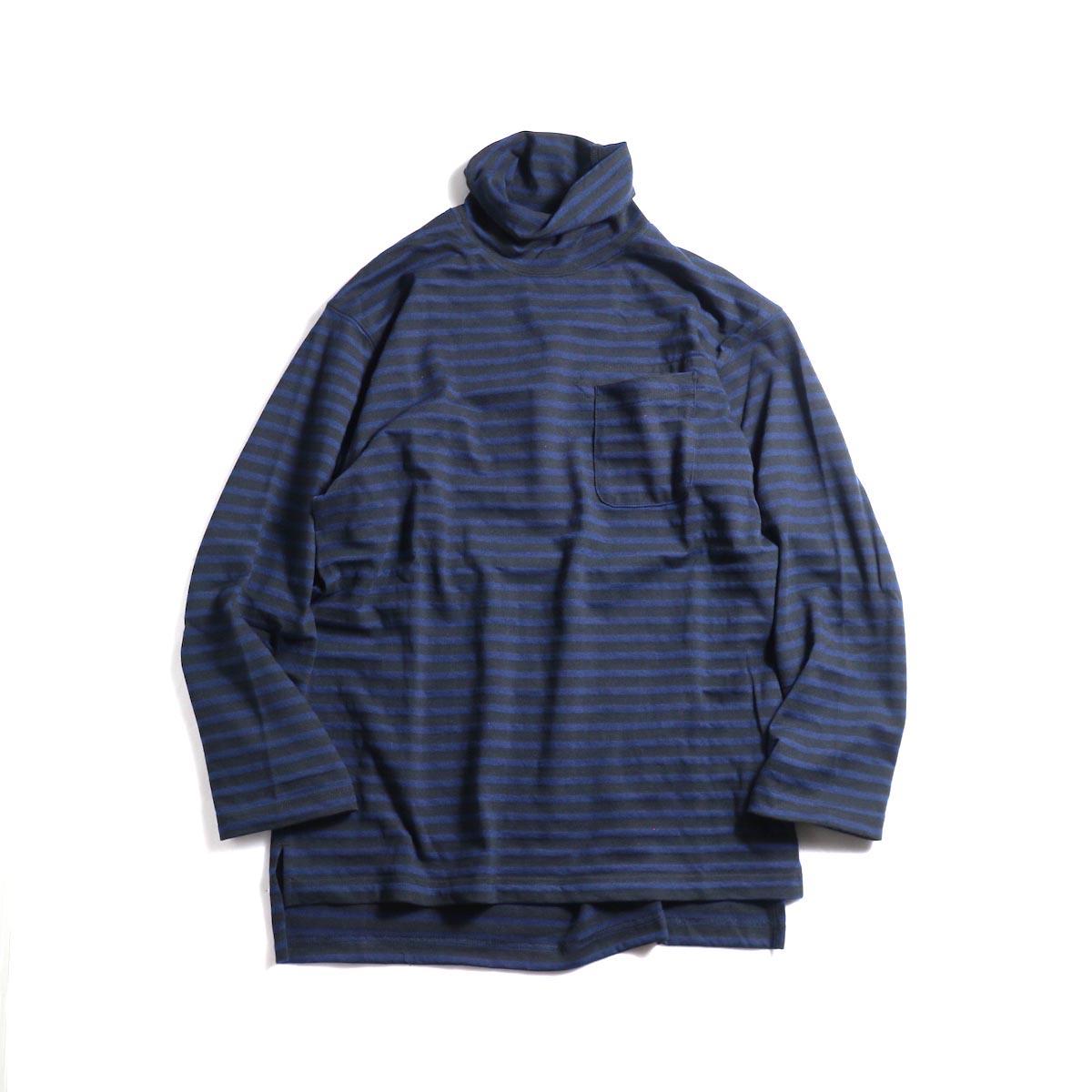 Engineered Garments / LS Turtleneck Shirt (Black/Navy)