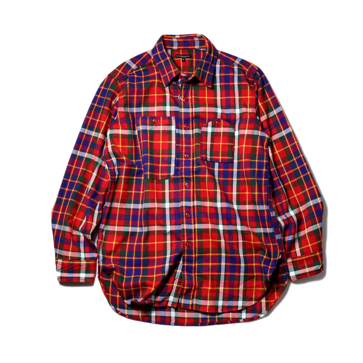 Engineered Garments / Work Shirt-Twill Plaid (Red/Green/Yellow)