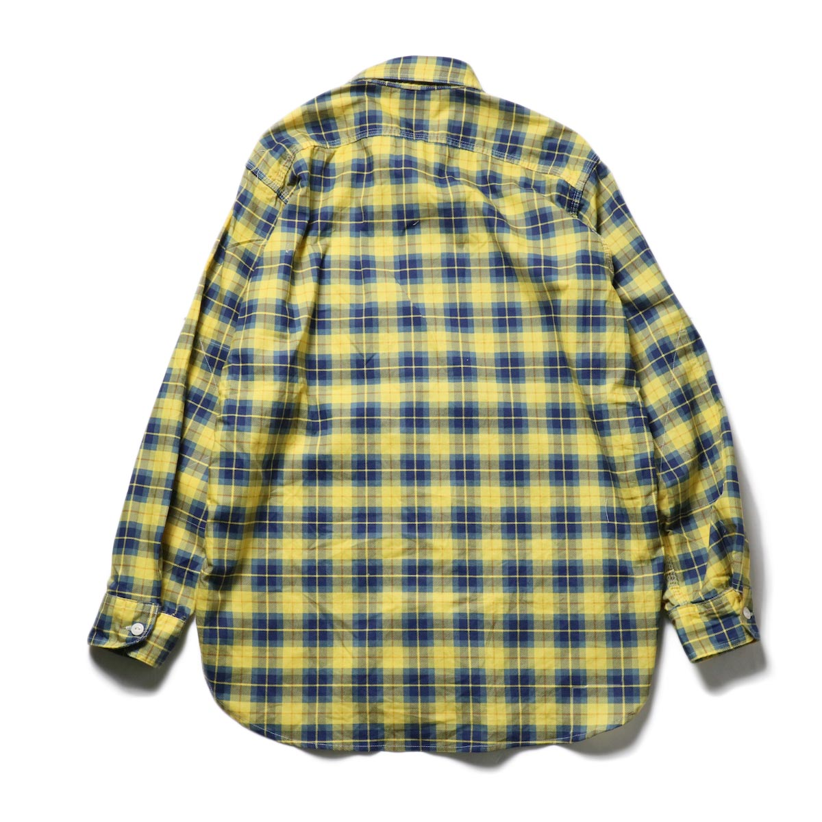Engineered Garments / Work Shirt -Cotton Printed Plaid (Yellow)背面