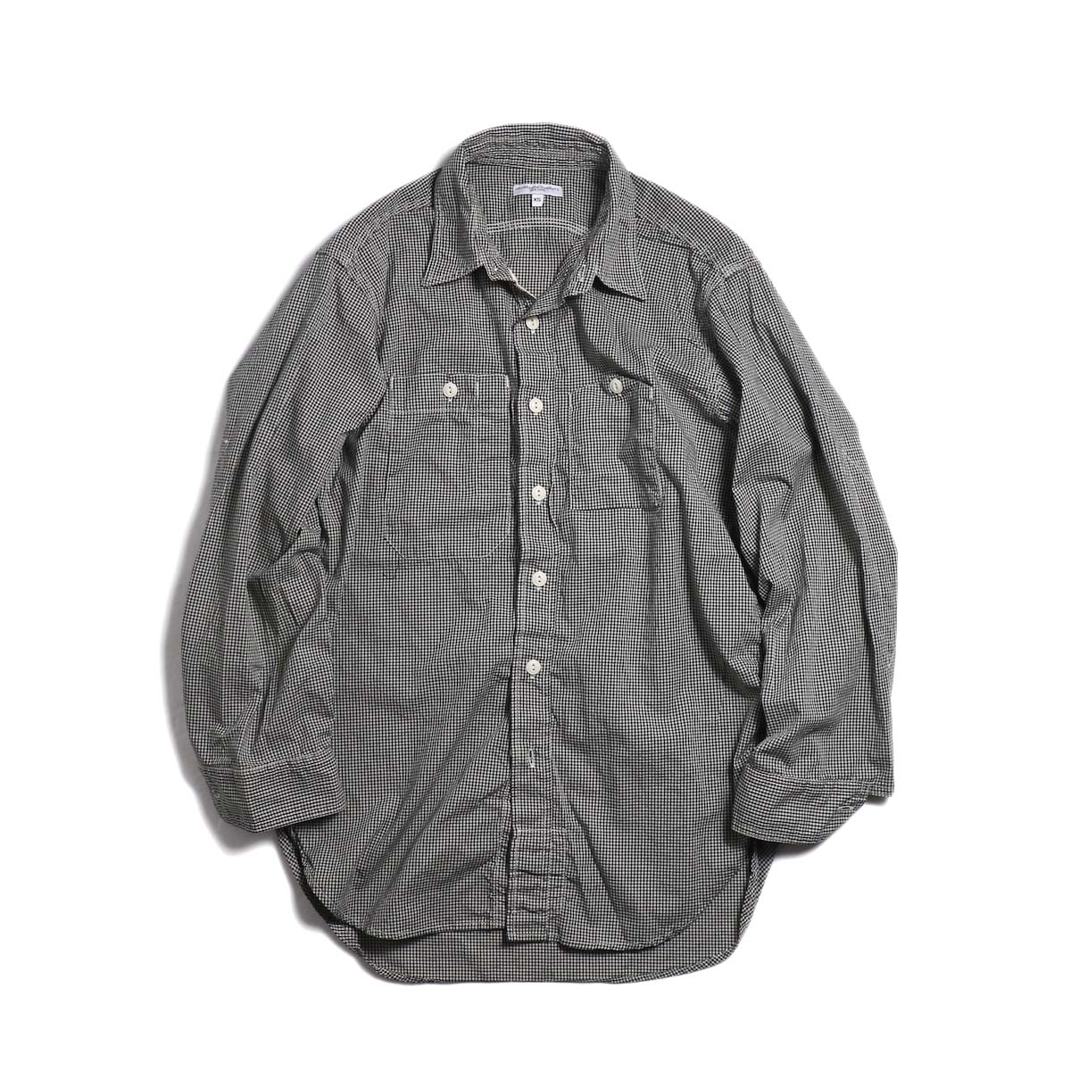 ENGINEERED GARMENTS / Work Shirt -Small Gingham Broadcloth (Dk.Navy)