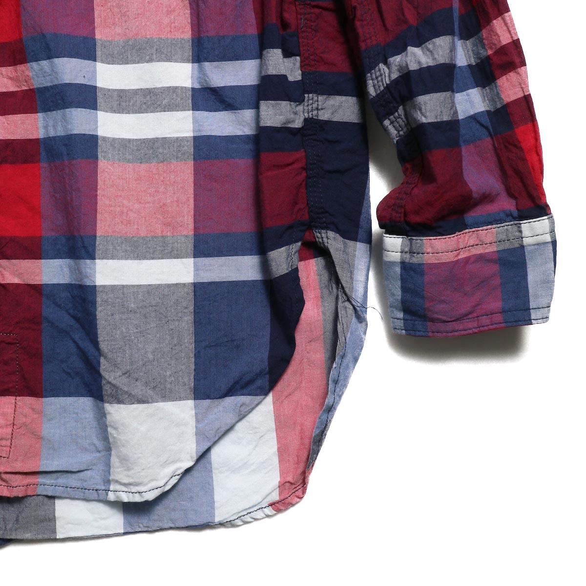 ENGINEERED GARMENTS / Work Shirt -Big Madras Plaid (Navy/Red) 袖