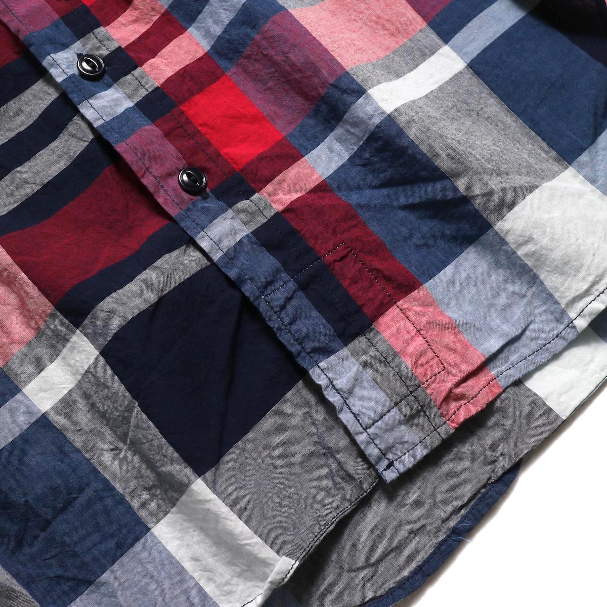 ENGINEERED GARMENTS / Work Shirt -Big Madras Plaid (Navy/Red)  裾