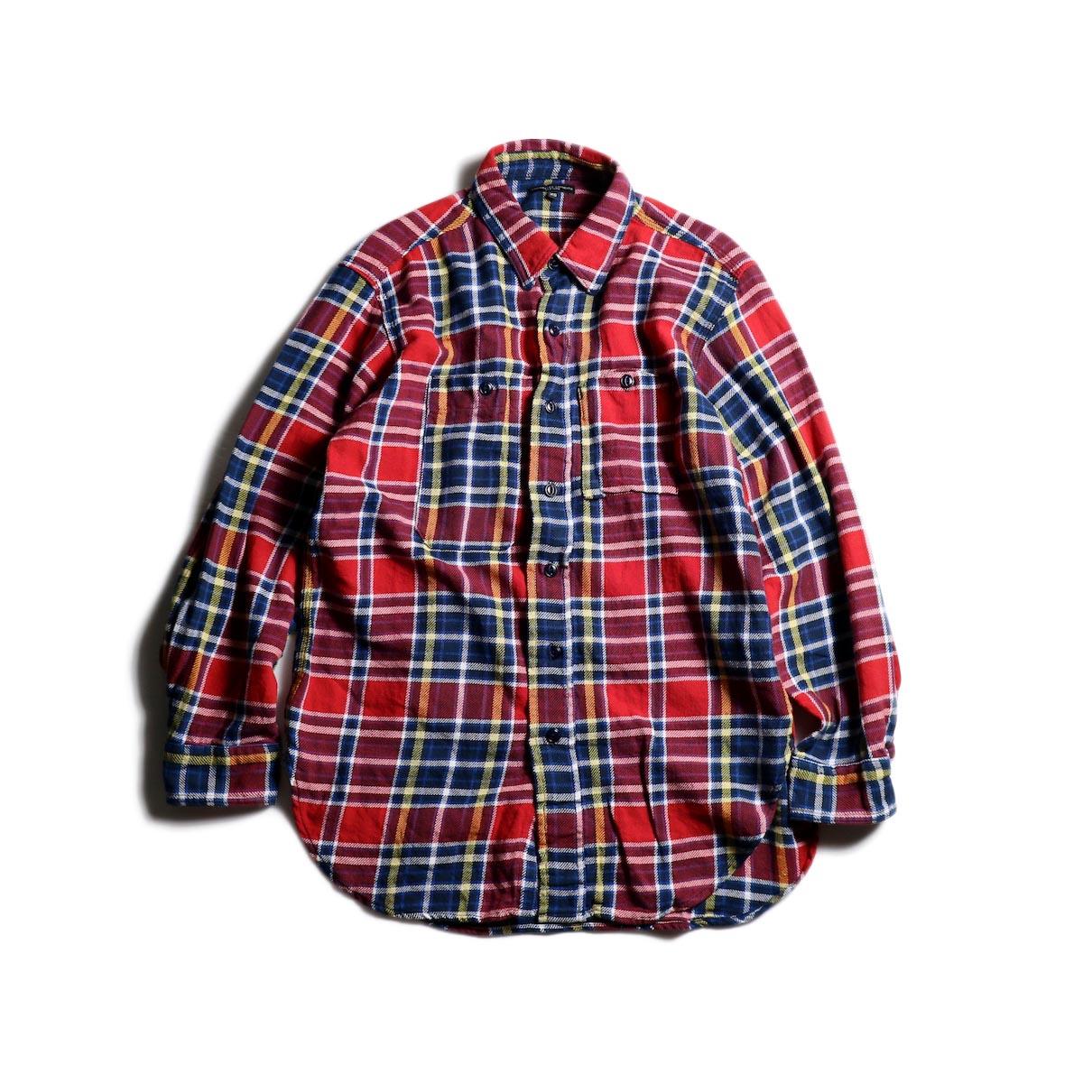 Engineered Garments / Work Shirt -Twill Plaid (Red/Navy)