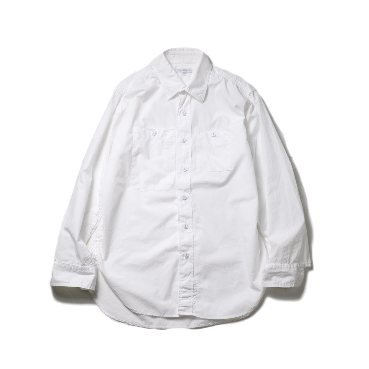 Engineered Garments / Work Shirt -100's 2Ply Broadcloth (White)