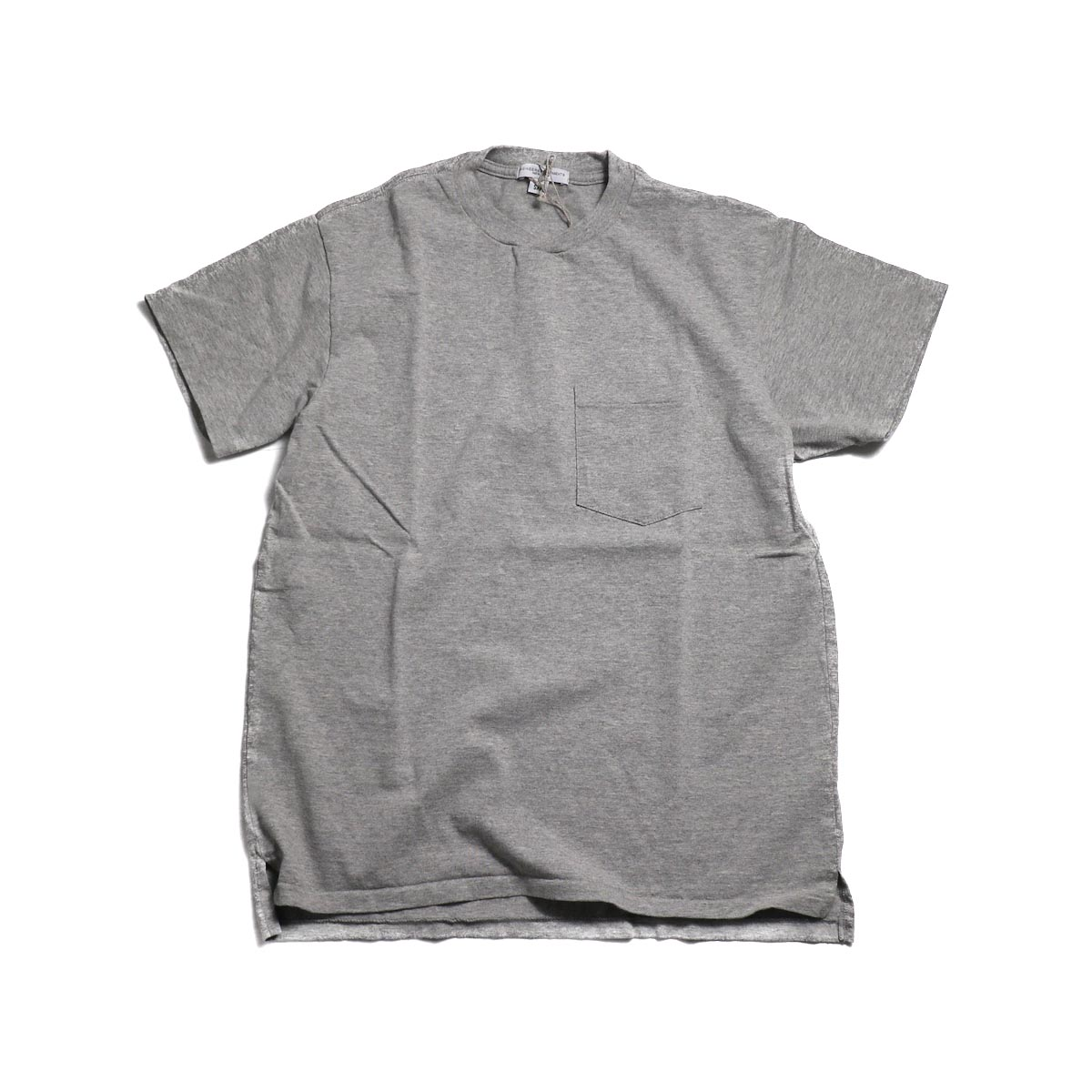 ENGINEERED GARMENTS Workaday / Crossover Neck Pocket Tee -Gray