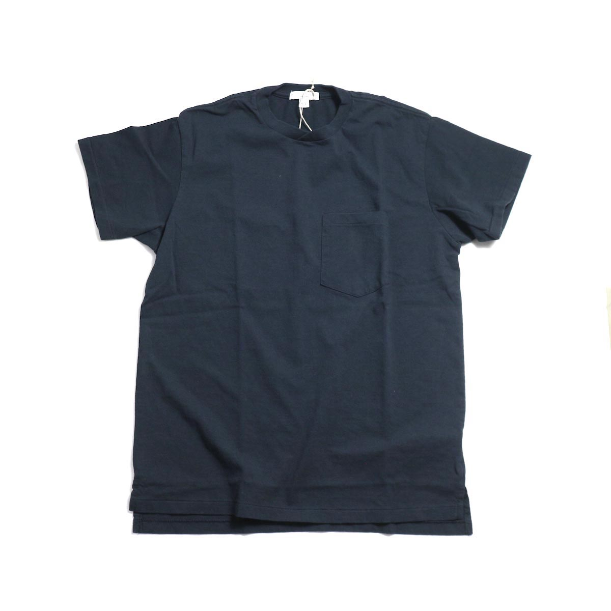 ENGINEERED GARMENTS Workaday / Crossover Neck Pocket Tee -Navy