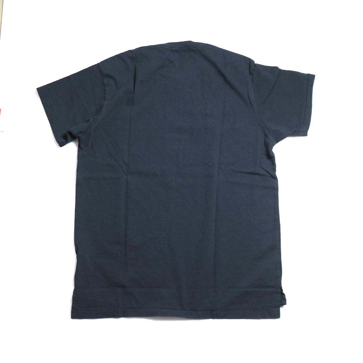 ENGINEERED GARMENTS Workaday / Crossover Neck Pocket Tee -Navy 背面