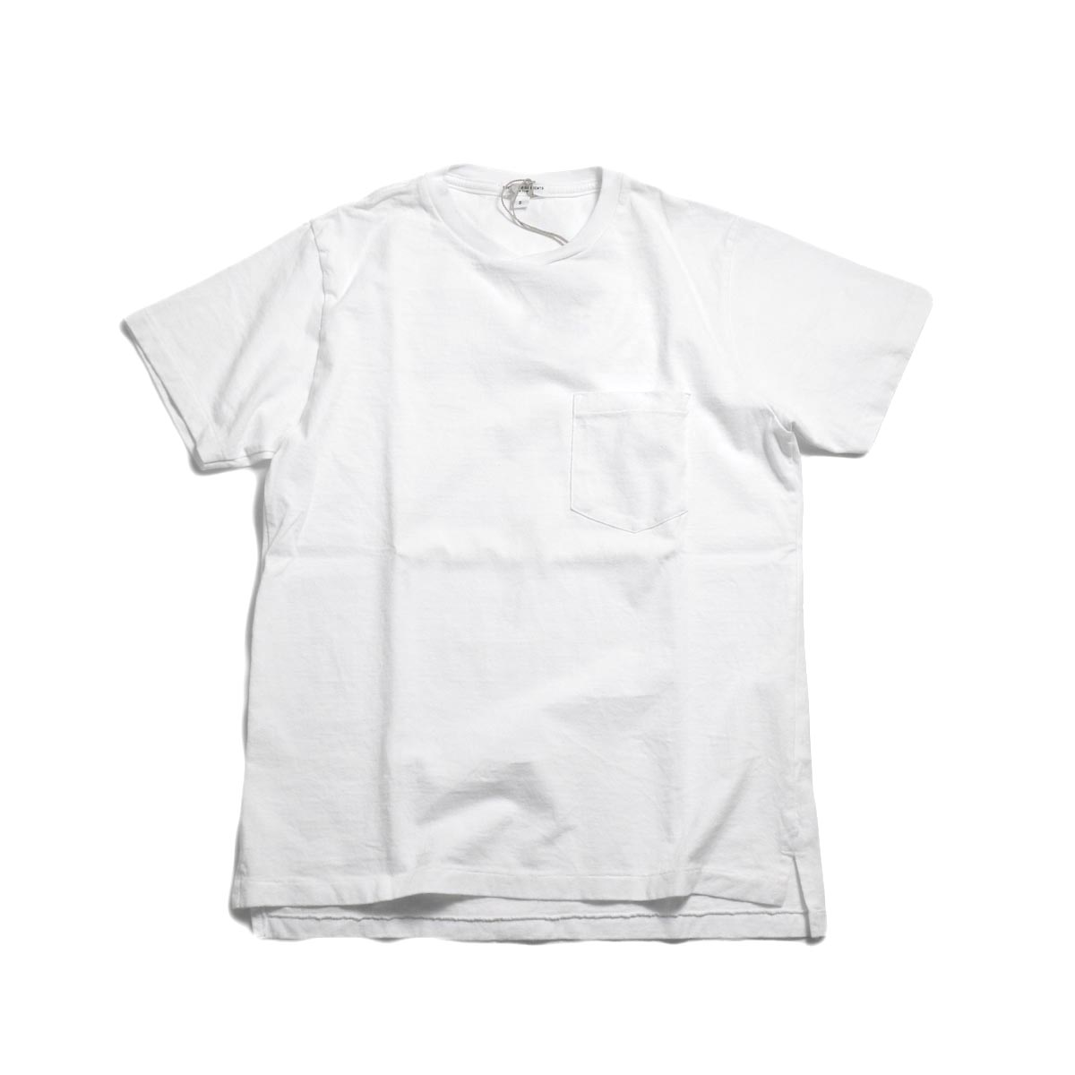 ENGINEERED GARMENTS Workaday / Crossover Neck Pocket Tee -White 正面