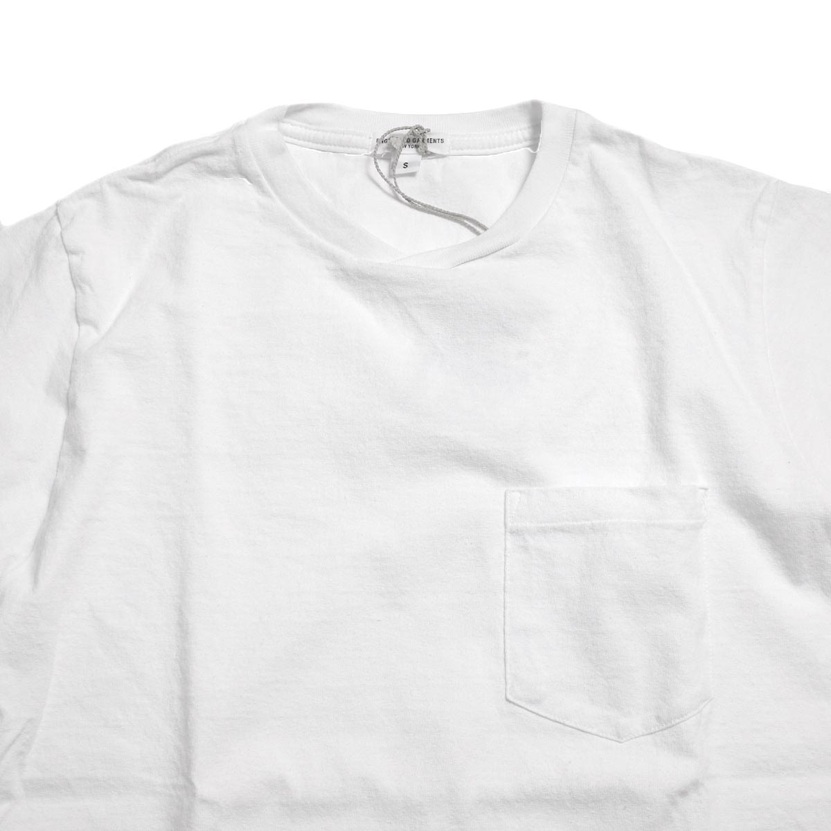 ENGINEERED GARMENTS Workaday / Crossover Neck Pocket Tee -Whiteクロスネック