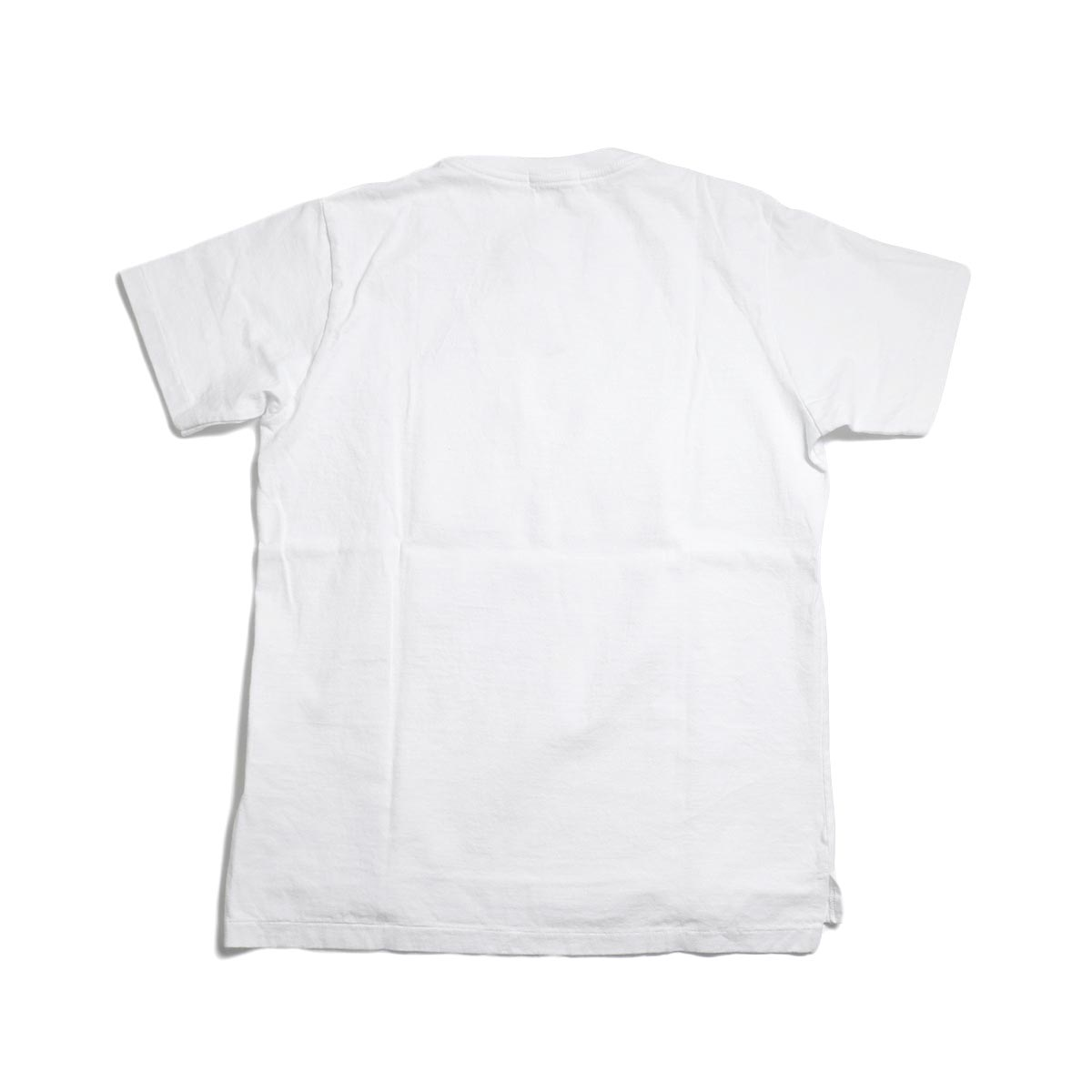 ENGINEERED GARMENTS Workaday / Crossover Neck Pocket Tee -White 背面