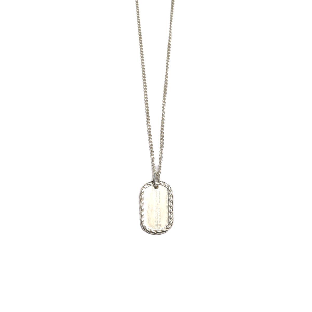 END / Miniature Dogtag Necklace 正面