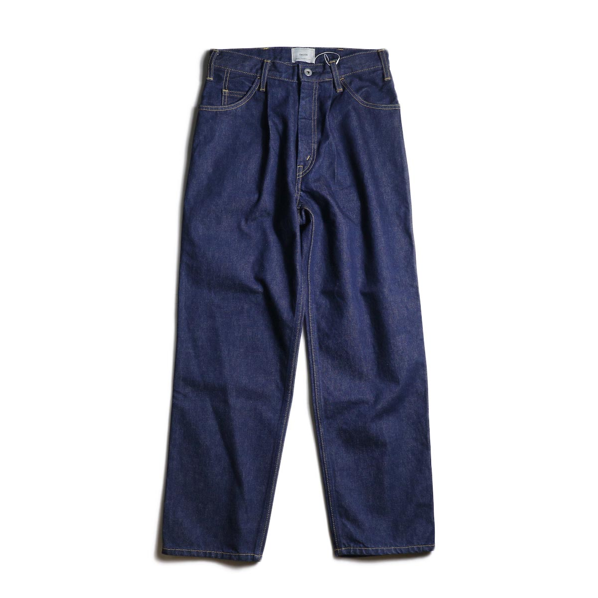 EVCON / 5POCKET TUCK WIDE DENIM PANTS (Indigo)