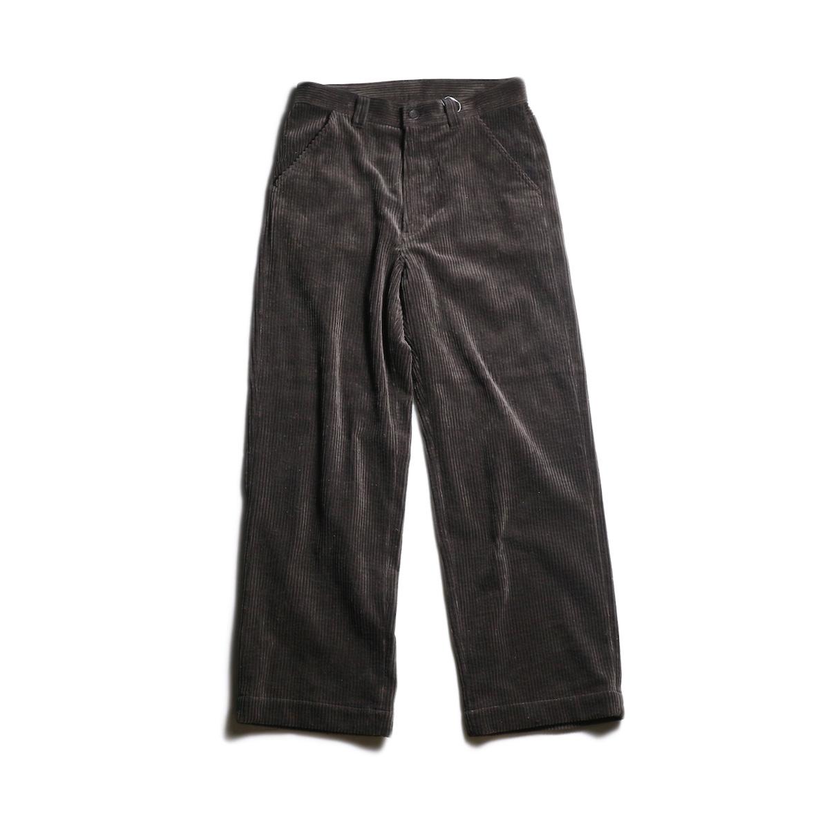 EVCON / CORDUROY WIDE PANTS (Brown)