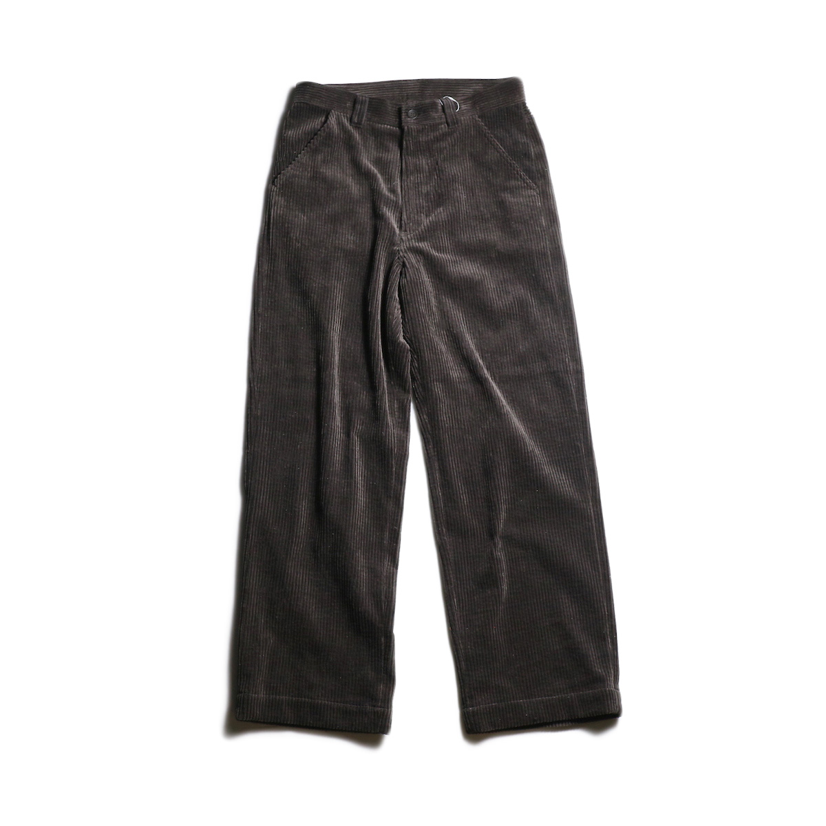 EVCON / CORDUROY WIDE PANTS (Brown)
