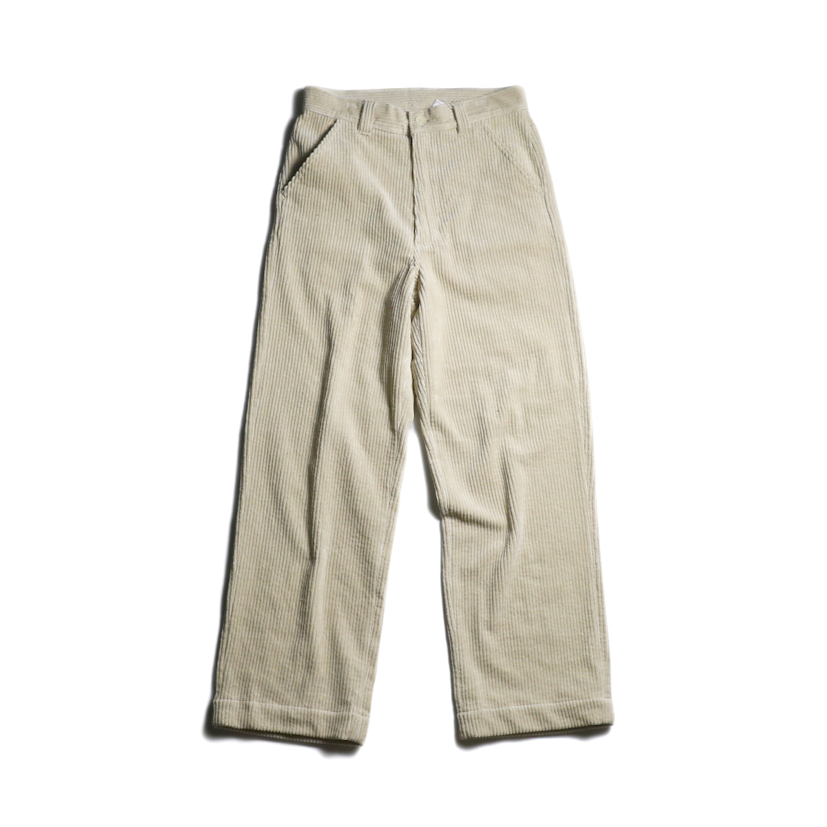 EVCON / CORDUROY WIDE PANTS (Ivory)