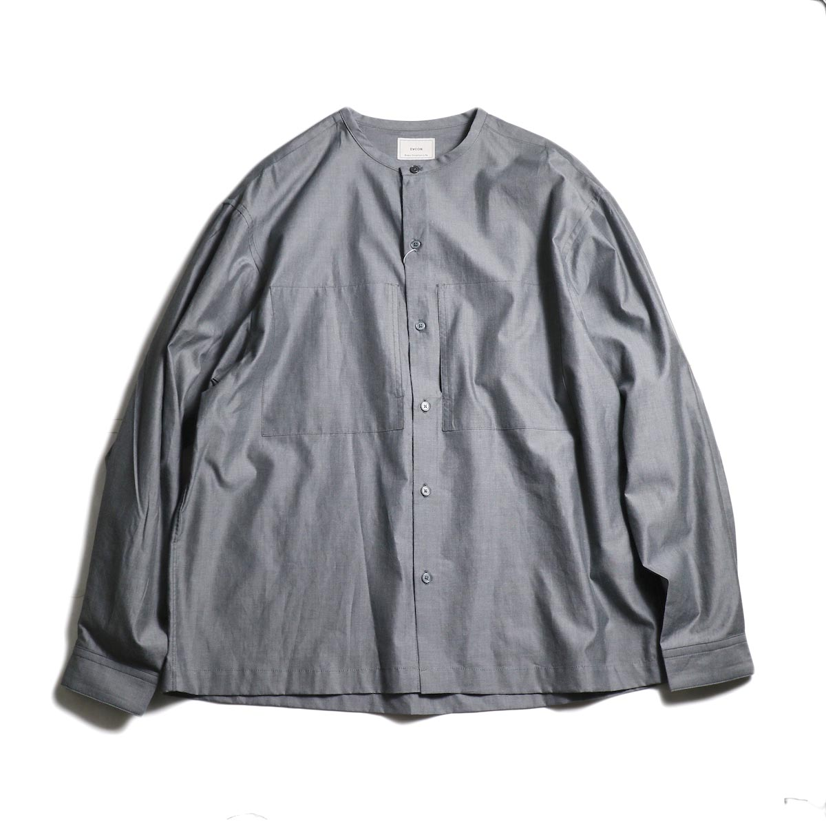 EVCON / NO COLLAR SHIRT (Black)
