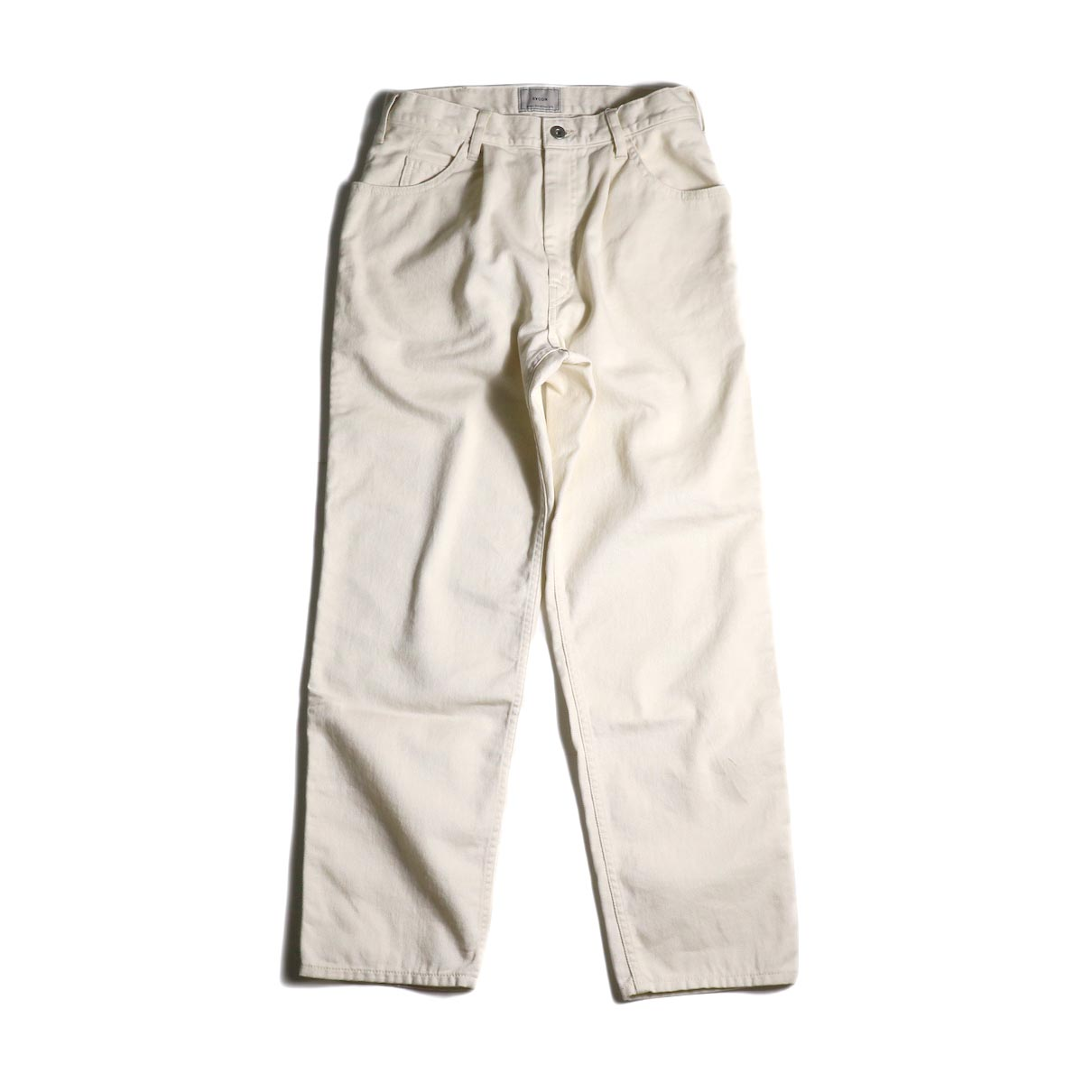 EVCON / 5 POCKET TUCK WIDE PANTS (Ivory)