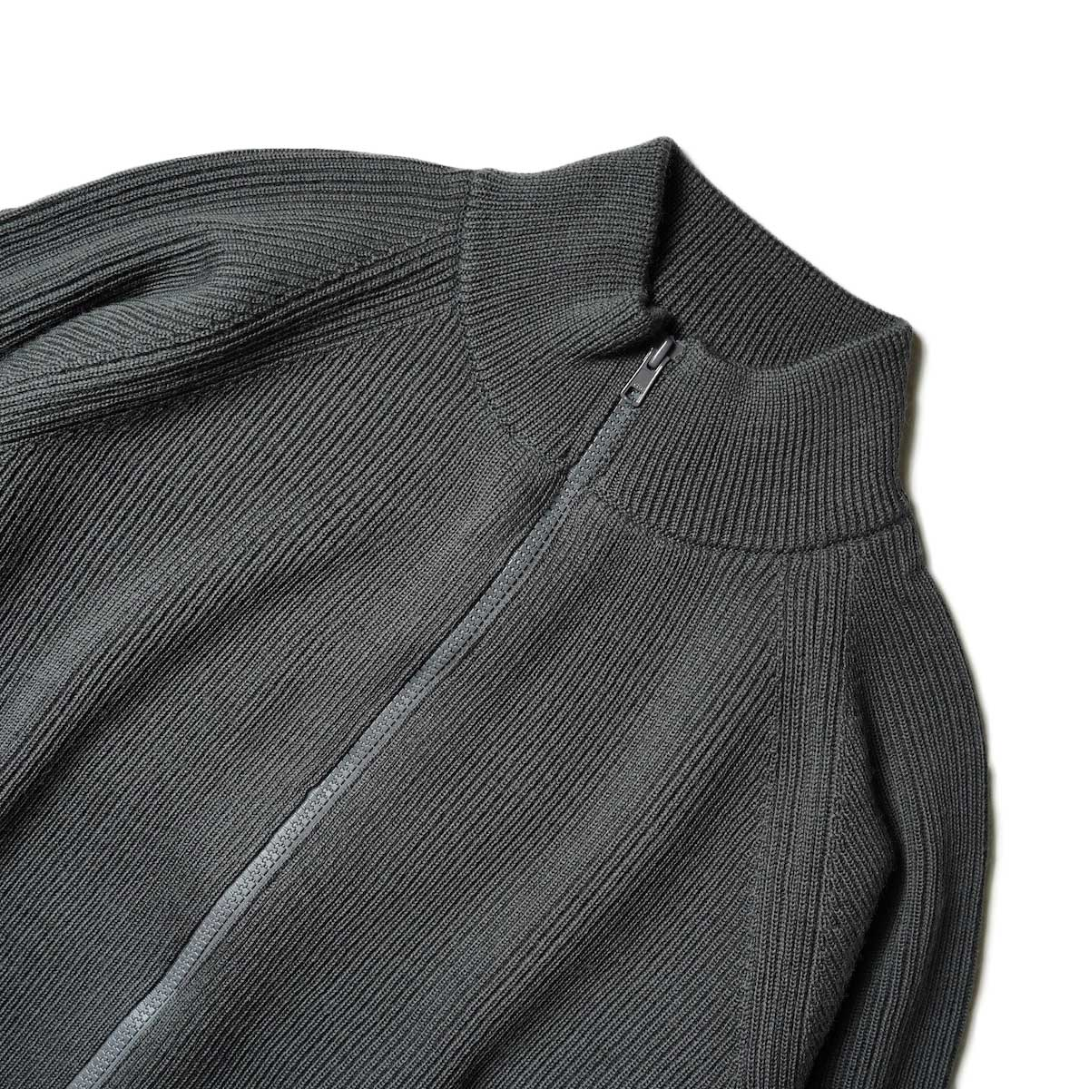 EVCON / DRIVERS SWEATER (Charcoal)ネック