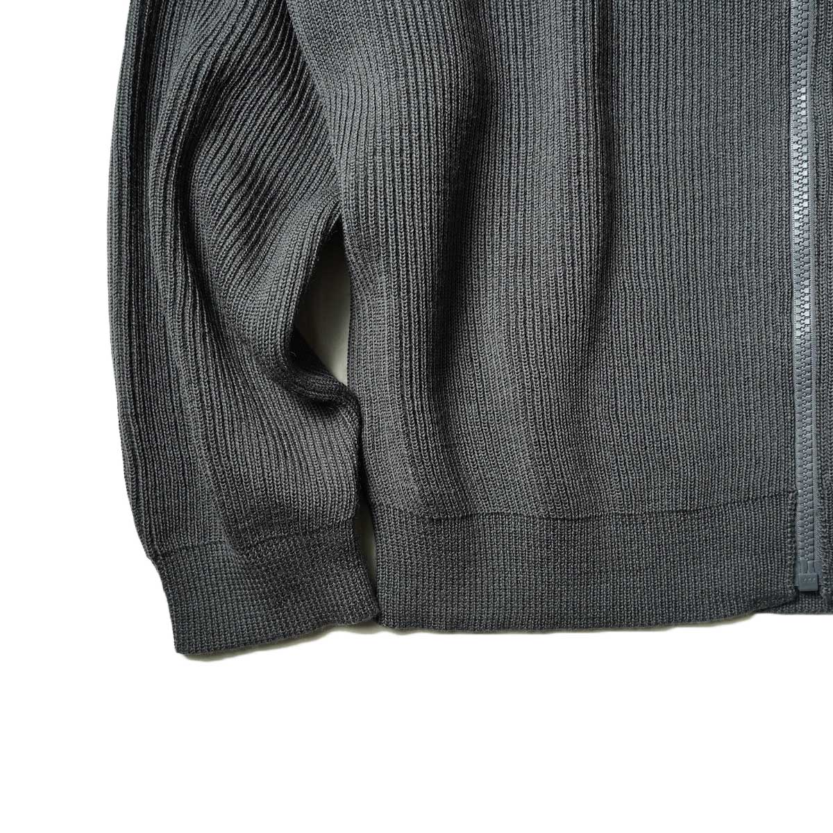 EVCON / DRIVERS SWEATER (Charcoal) 袖、裾