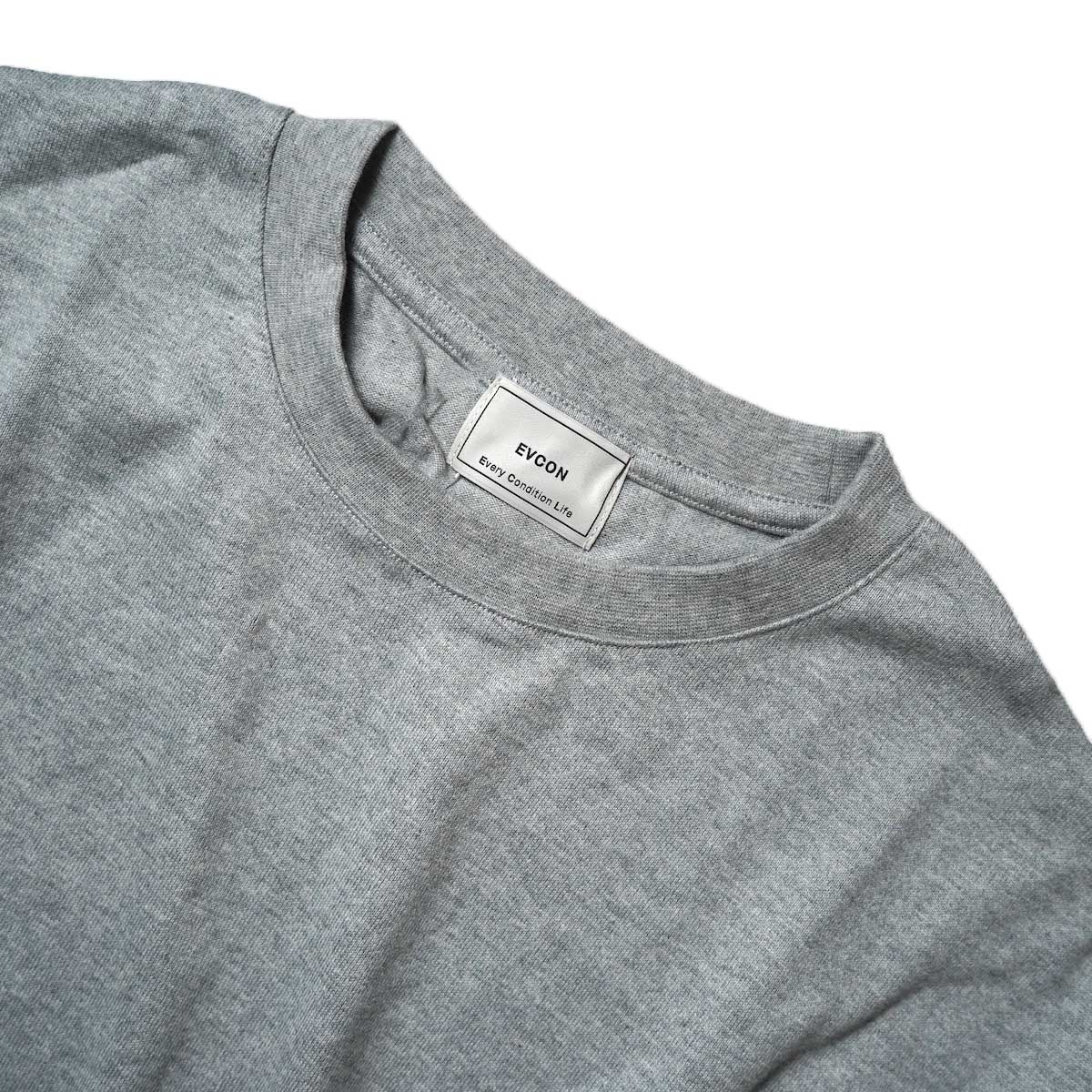 EVCON / WIDE L/S T-Shirt (Gray) クルーネック