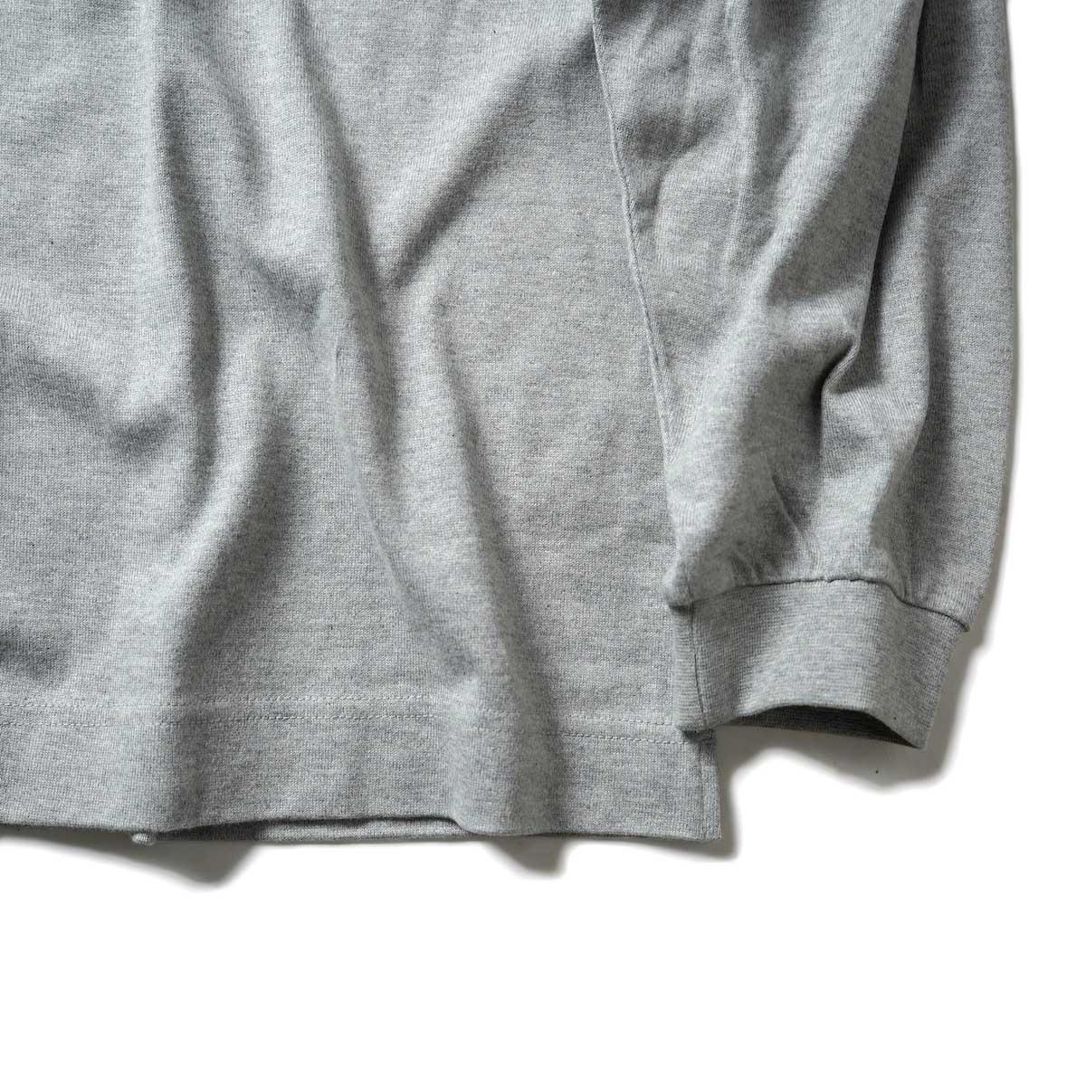EVCON / WIDE L/S T-Shirt (Gray) 袖、裾