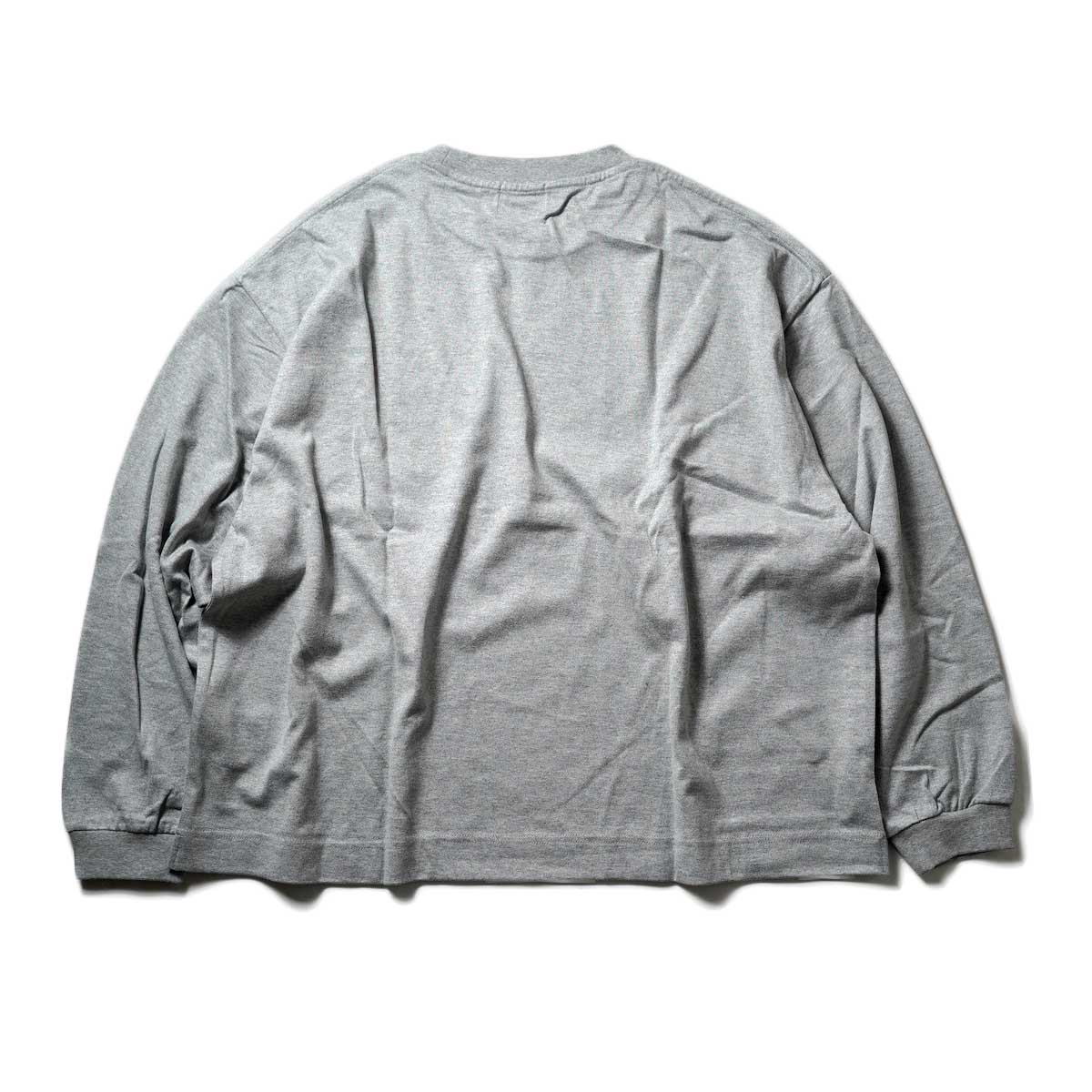 EVCON / WIDE L/S T-Shirt (Gray) 背面