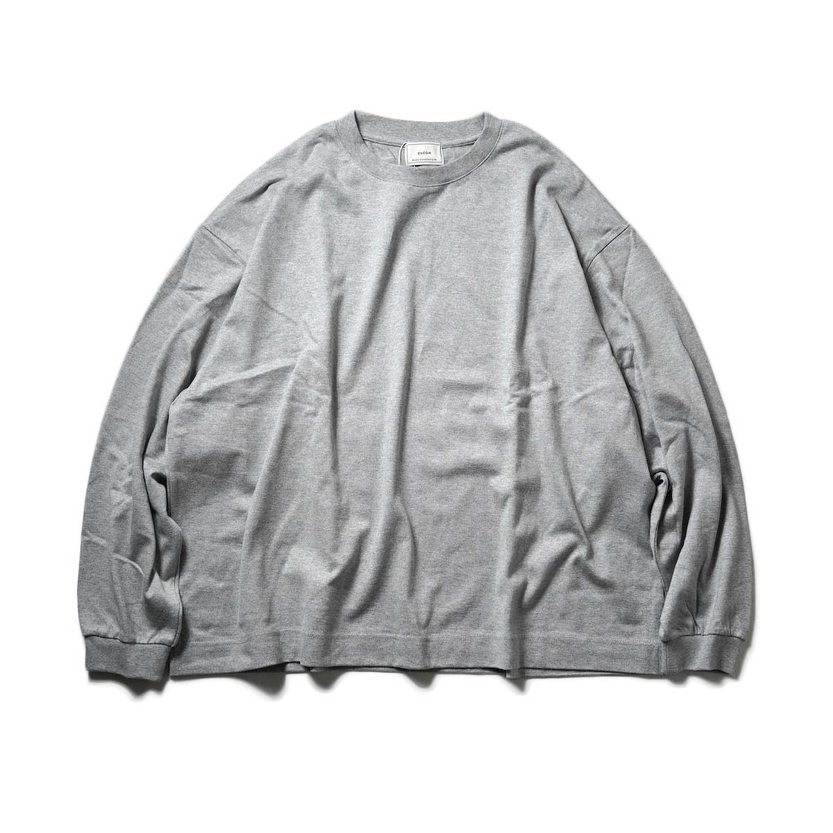 EVCON / WIDE L/S T-Shirt (Gray) 正面