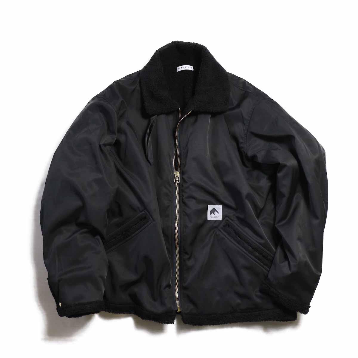 F-LAGSTUF-F / NYLON B-3 -BLACK(NO PRINT)