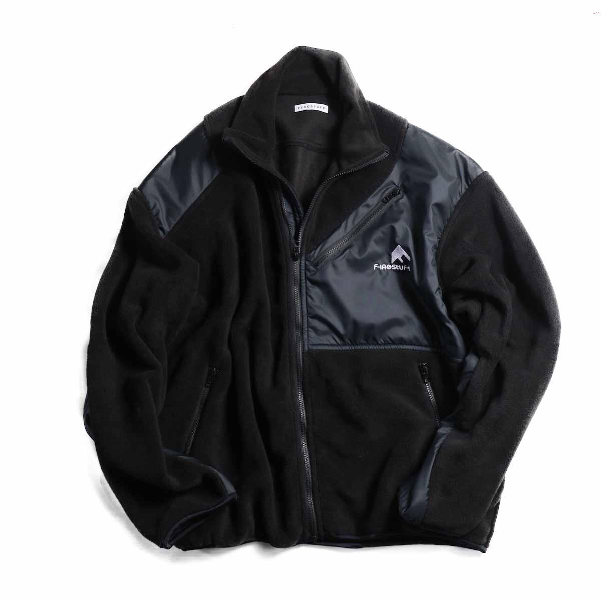 F-LAGSTUF-F / LIGHT F/Z FLEECE JKT -BLACK×BLACK