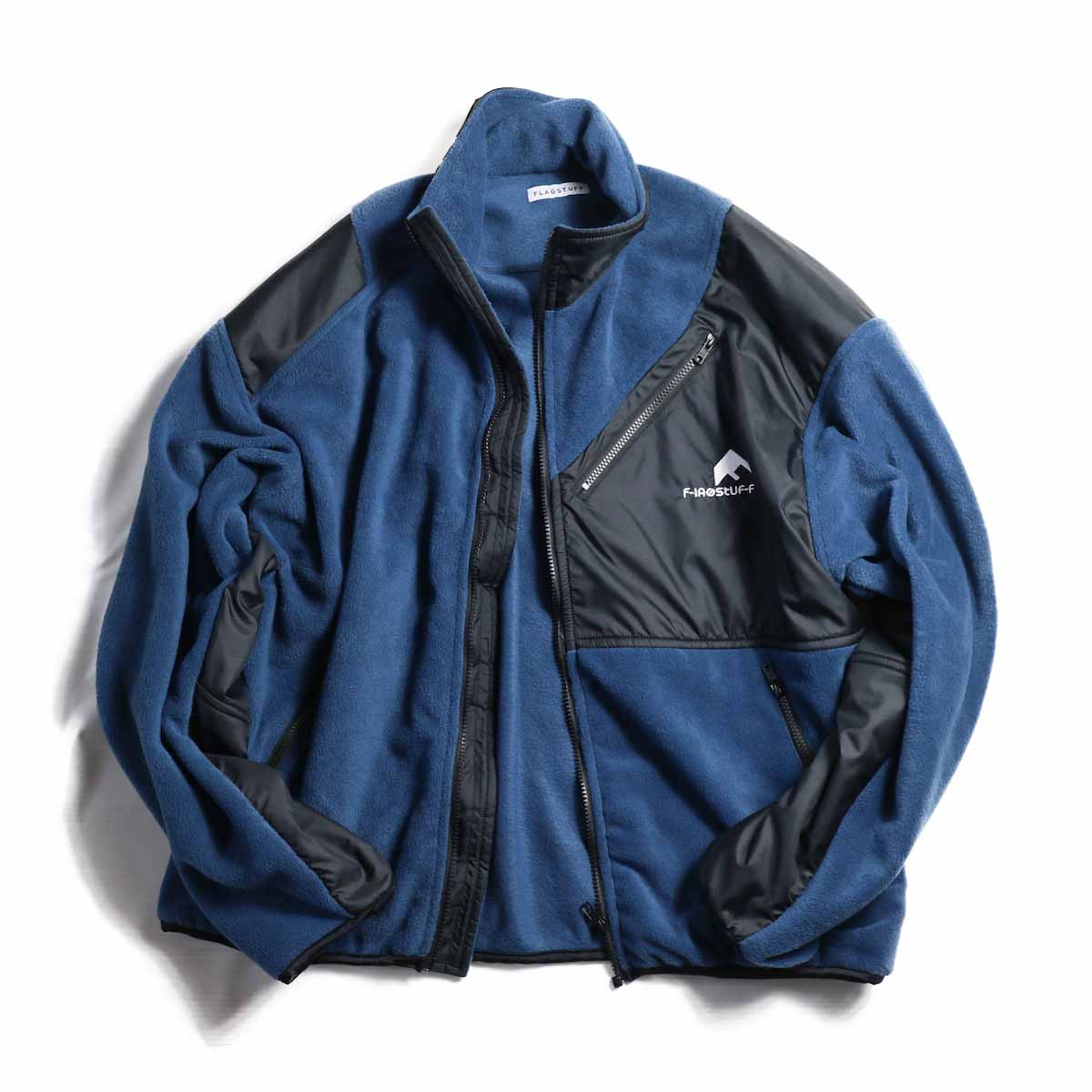 F-LAGSTUF-F / LIGHT F/Z FLEECE JKT -NAVY×BLACK